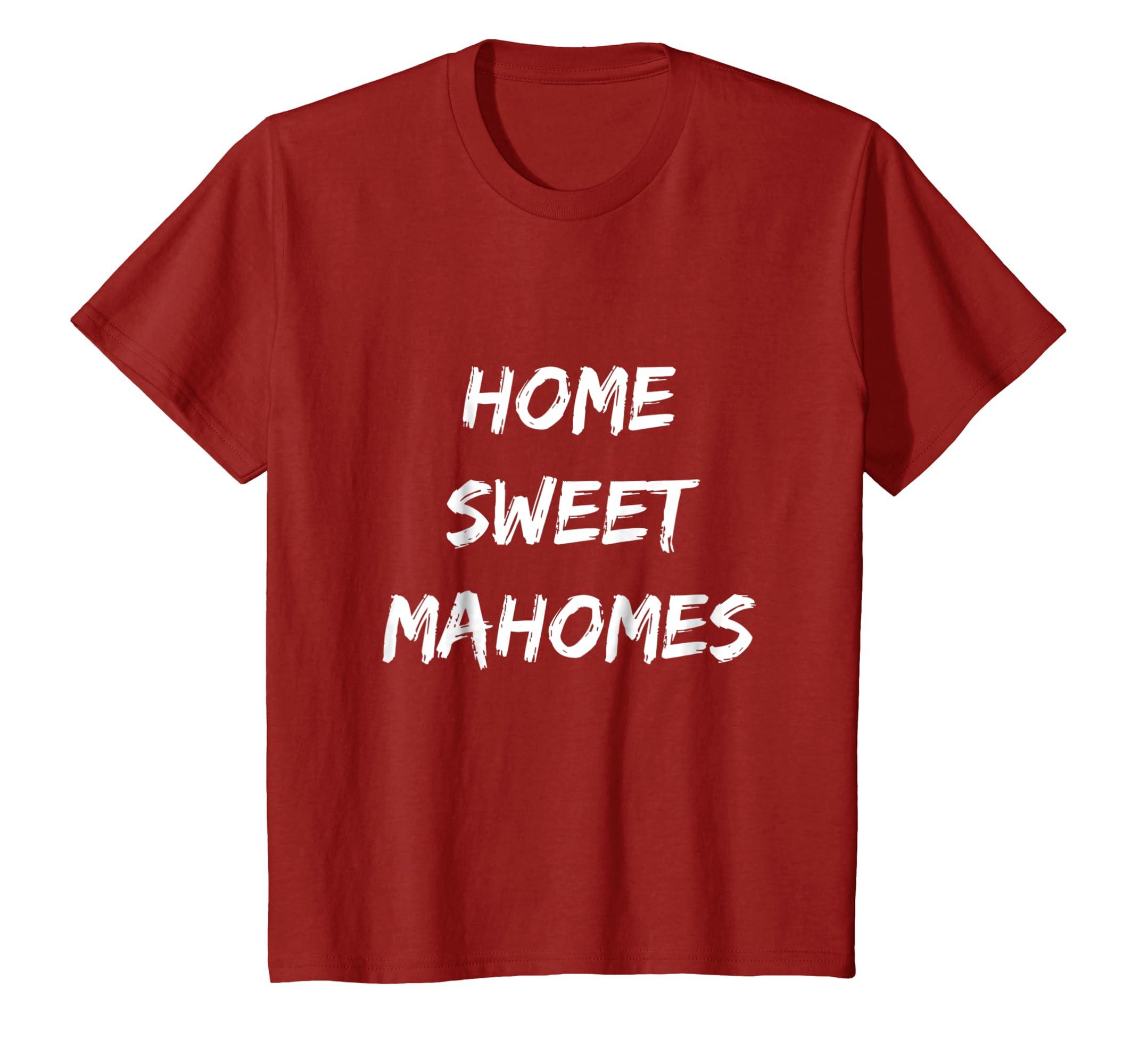 95be3e3173e Amazon.com: Patrick Home Sweet Mahomes Shirt Kansas City Tee KC Football:  Clothing