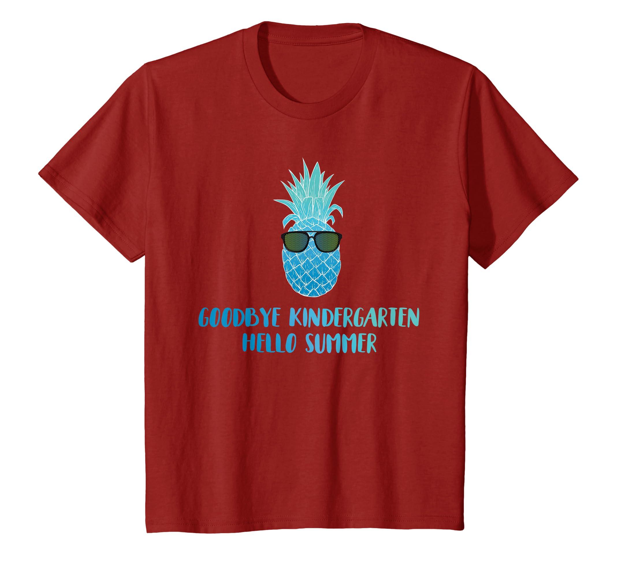 0980b0fdb58 Amazon.com  Goodbye Kindergarten Hello Summer Last Day Teacher T Shirt   Clothing