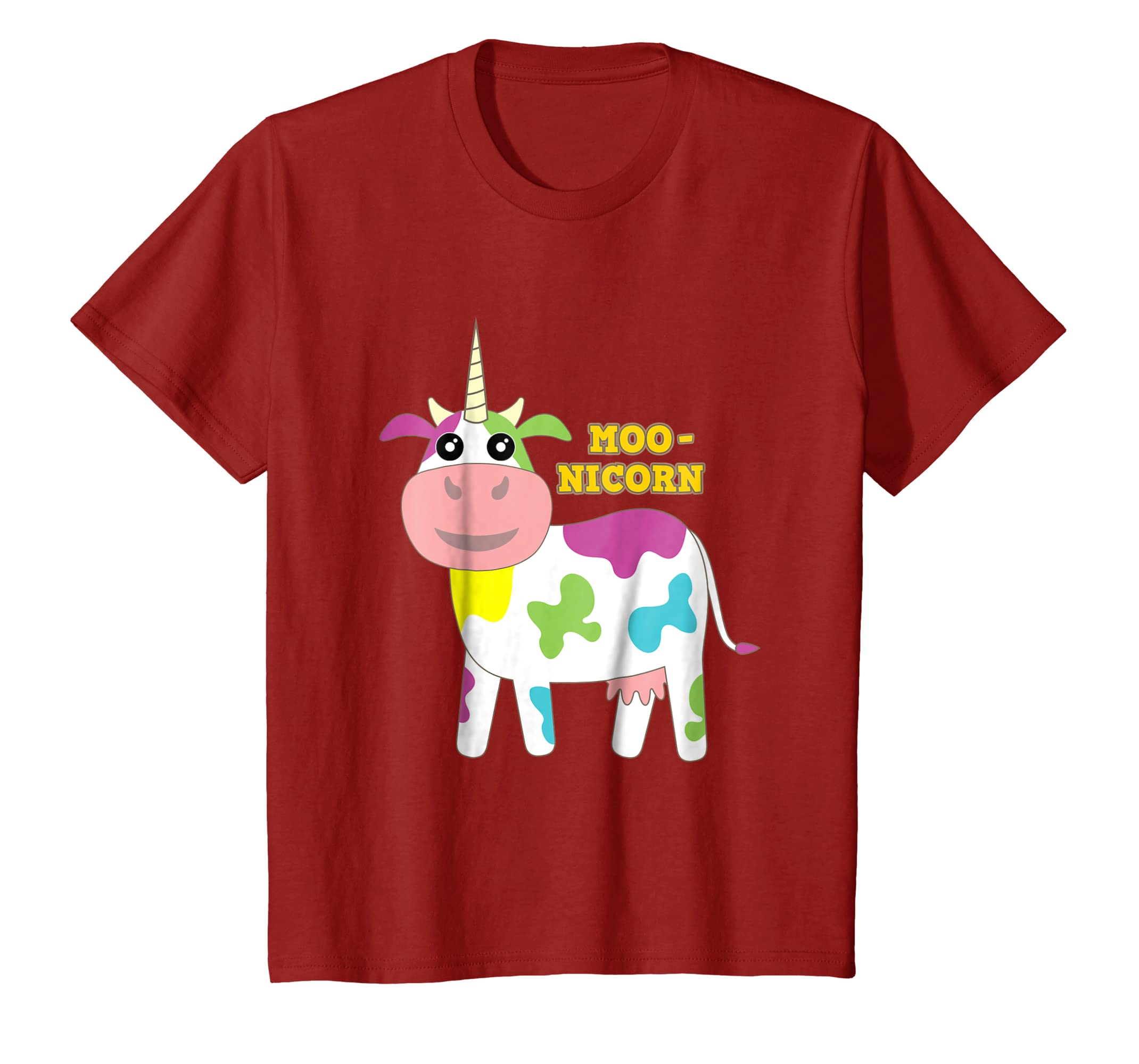 58765afc7798 Amazon.com: Moonicorn Funny Cow Unicorn T-Shirt Gift for Kids and ...