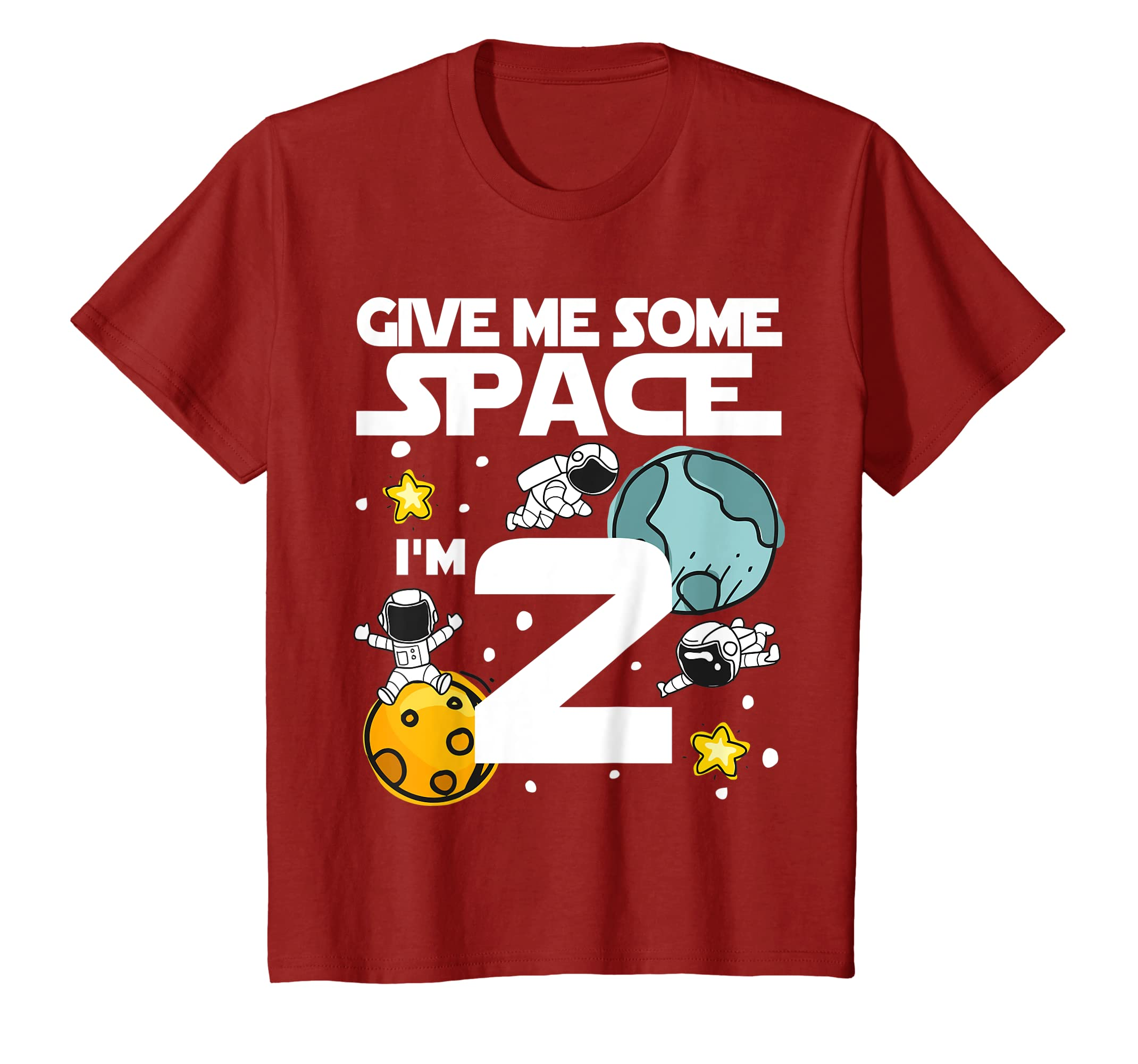 Amazon Kids 2 Year Old Outer Space Birthday T Shirt Astronaut 2nd Gift Clothing