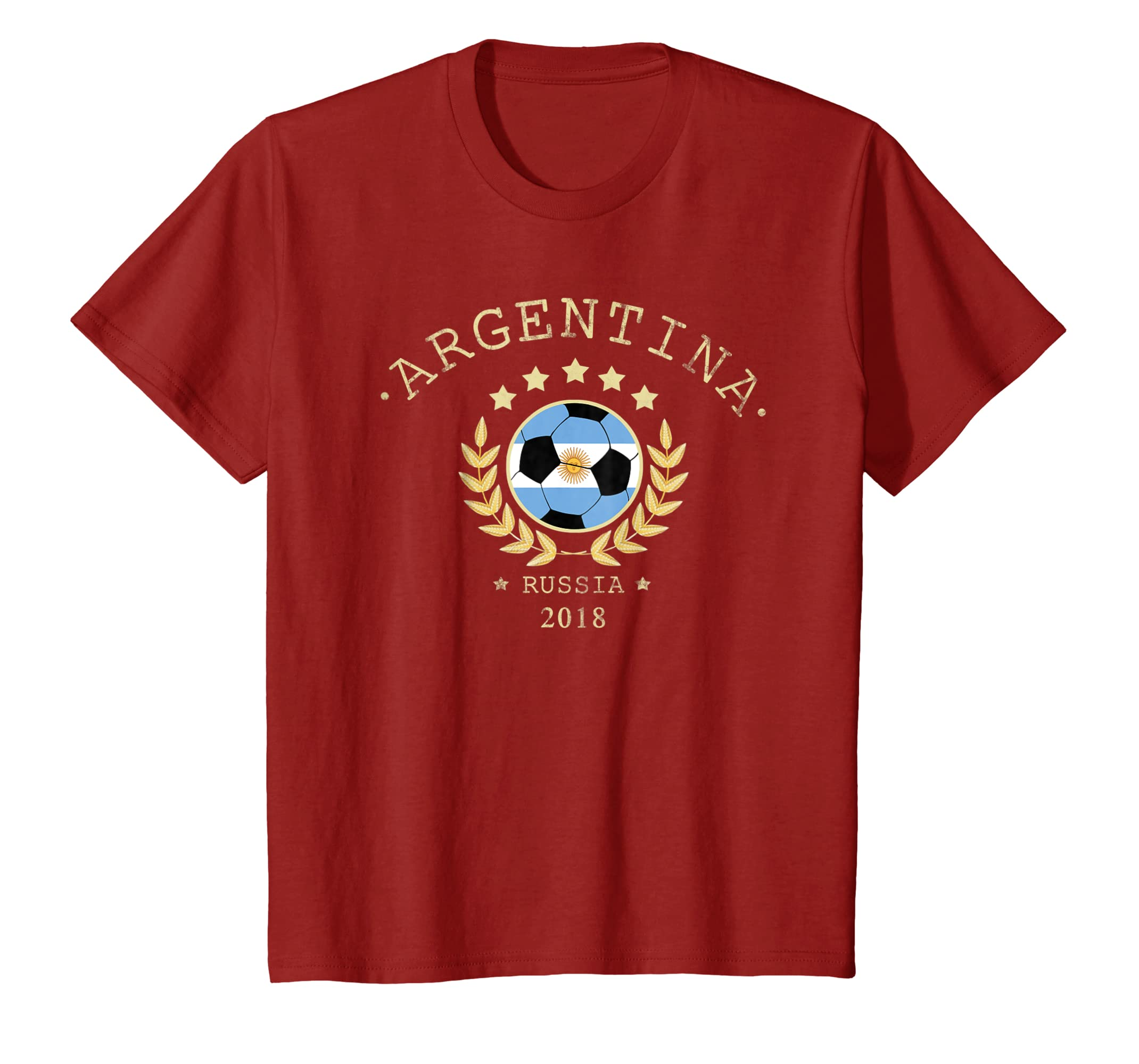 Amazon.com: Argentina T Shirt Russia Soccer Team 2018 Football T Shirt: Clothing