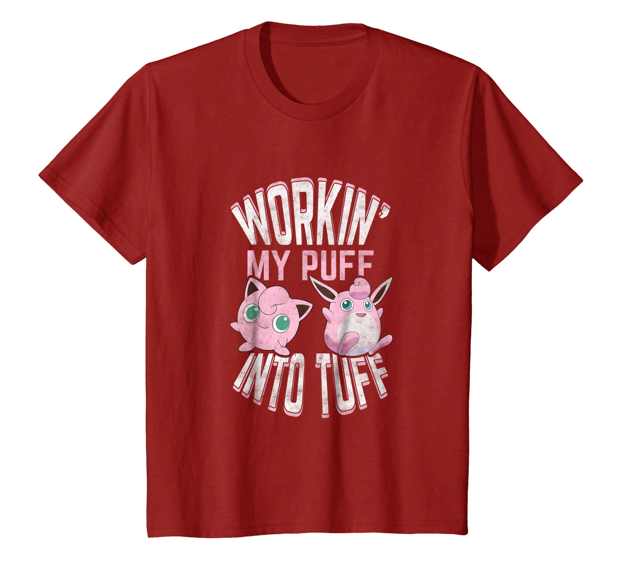 65f8a04c Amazon.com: Workin' My Puff into Tuff T shirt, Workout shirt: Clothing