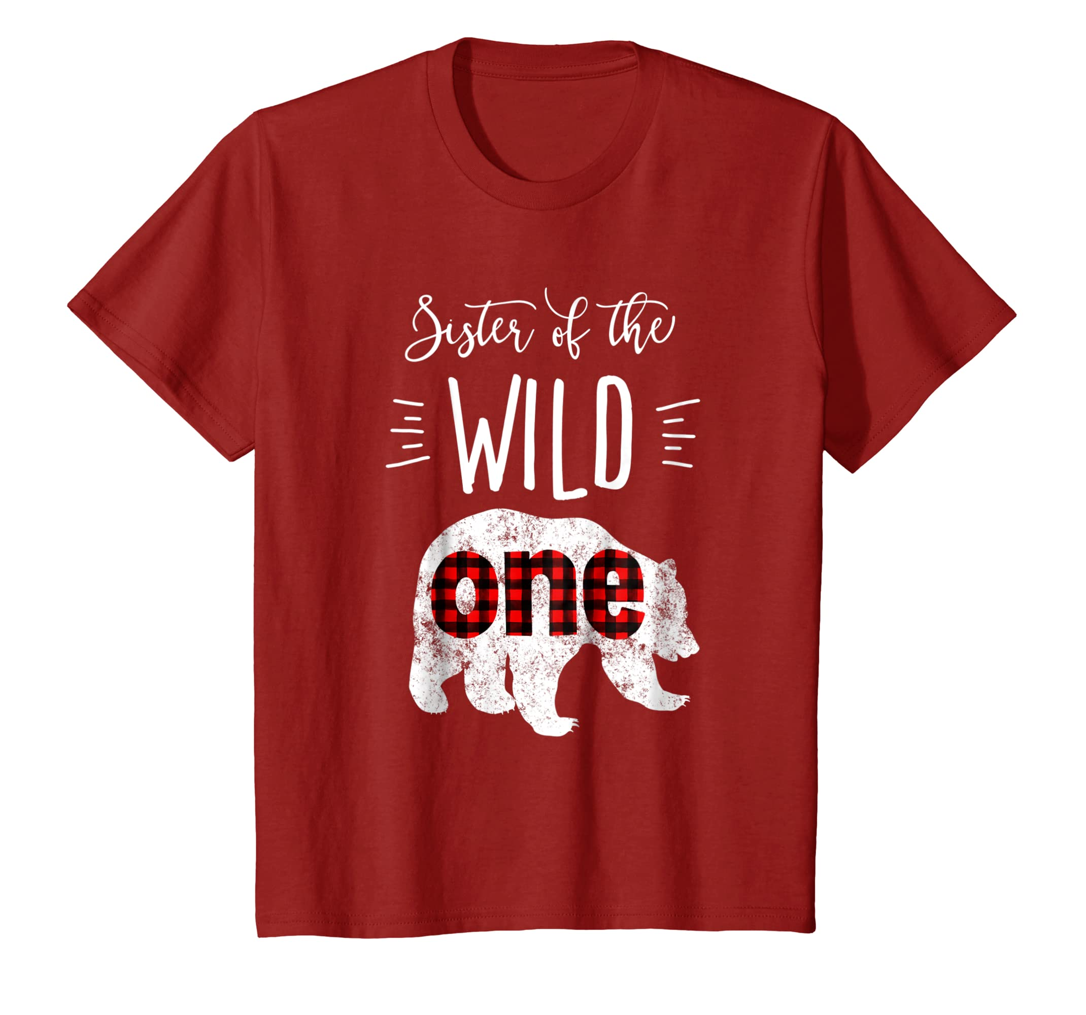 Kids Sister of the Wild One Shirt Bear Lumberjack 1st Birthday-Bawle