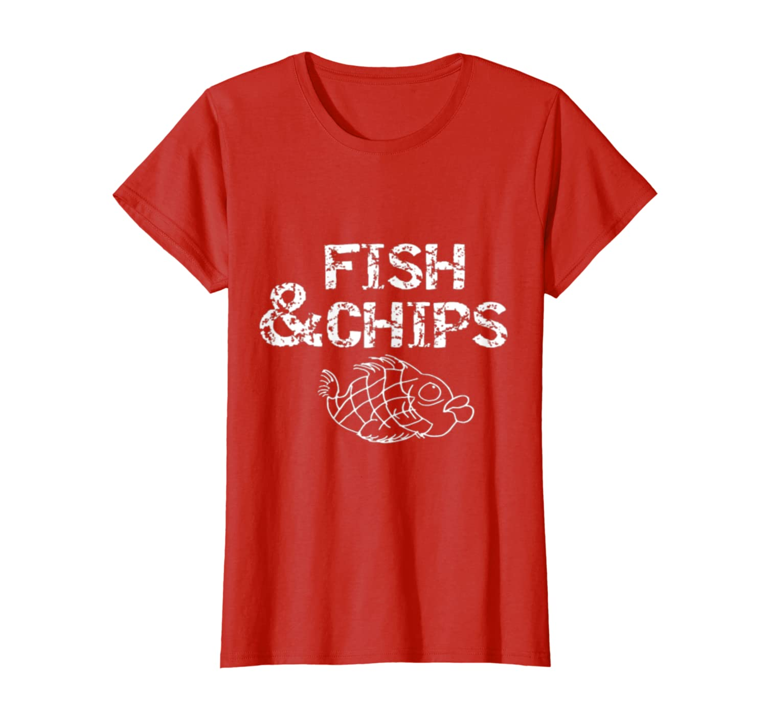 Foodie Fish and Chips Fish Fry Up Copy Gifts T-Shirt