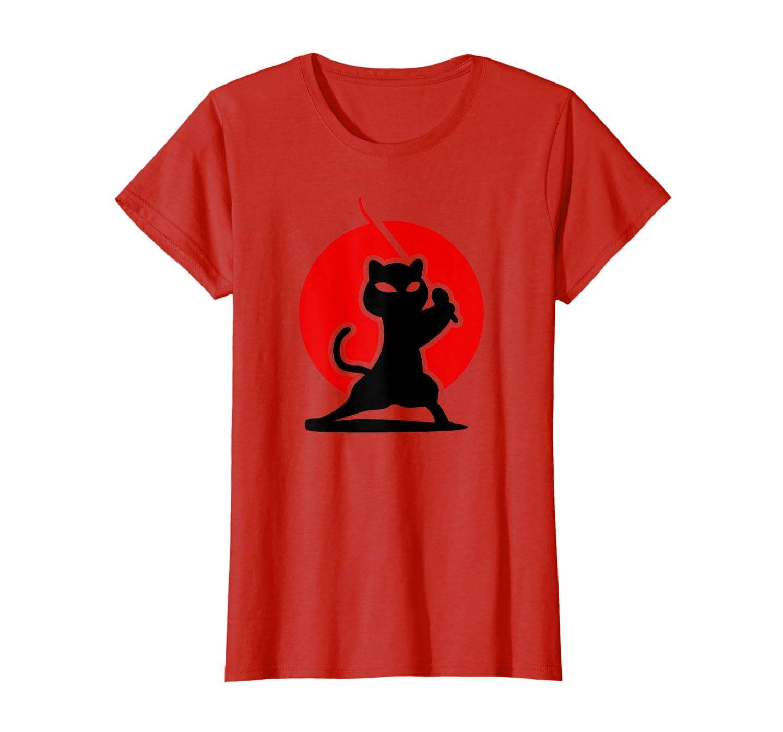 Amazon.com: Fearless Ninja Cat Katana Silhouette Japanese ...