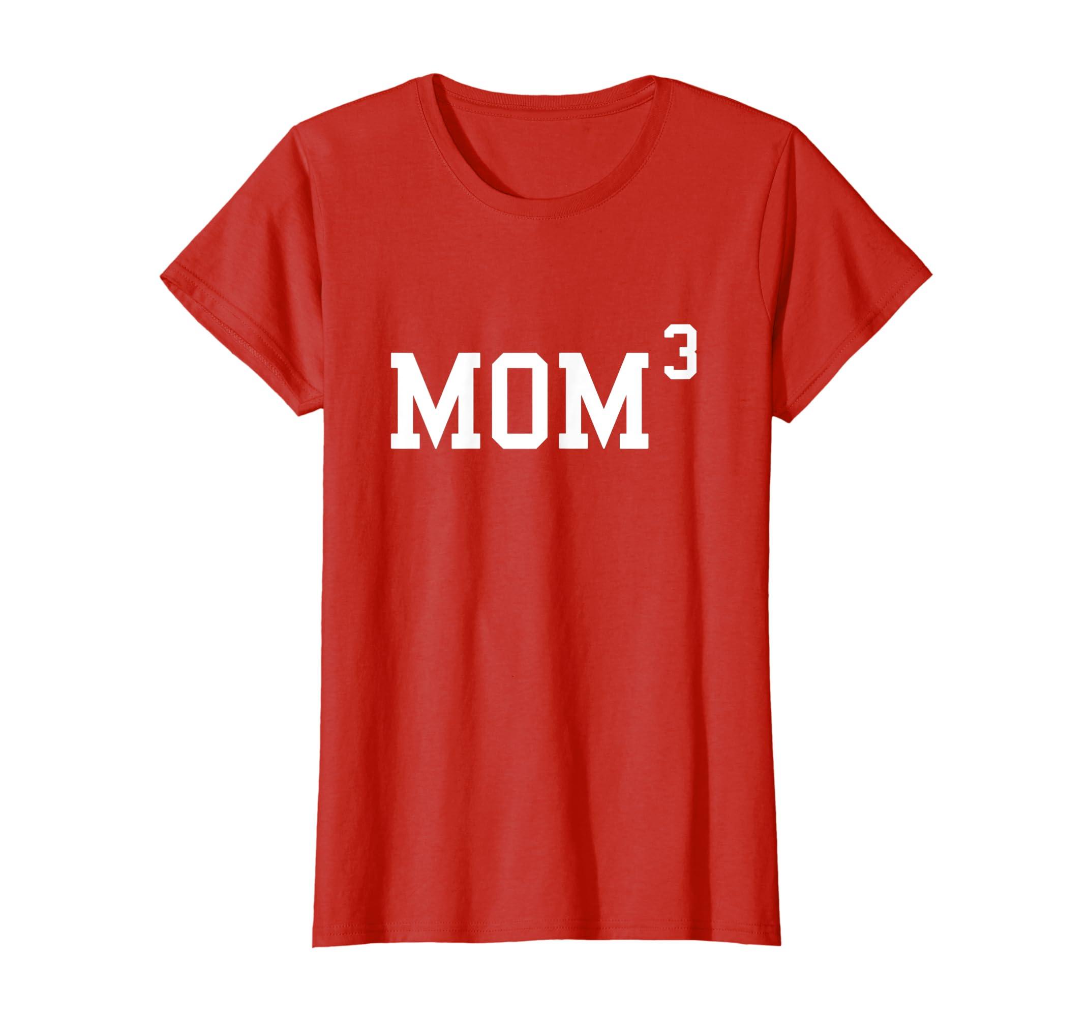Womens Mom3 T-Shirt - Funny Mom Of 3 Gift Tee Shirt