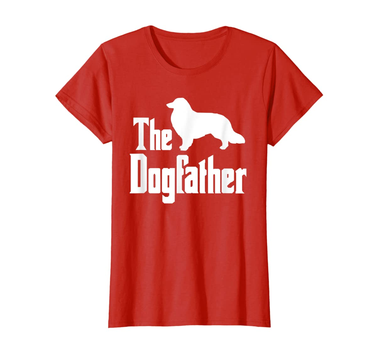 The Dogfather - funny Rough Collie T-Shirt, funny dog gift-Women's T-Shirt-Red