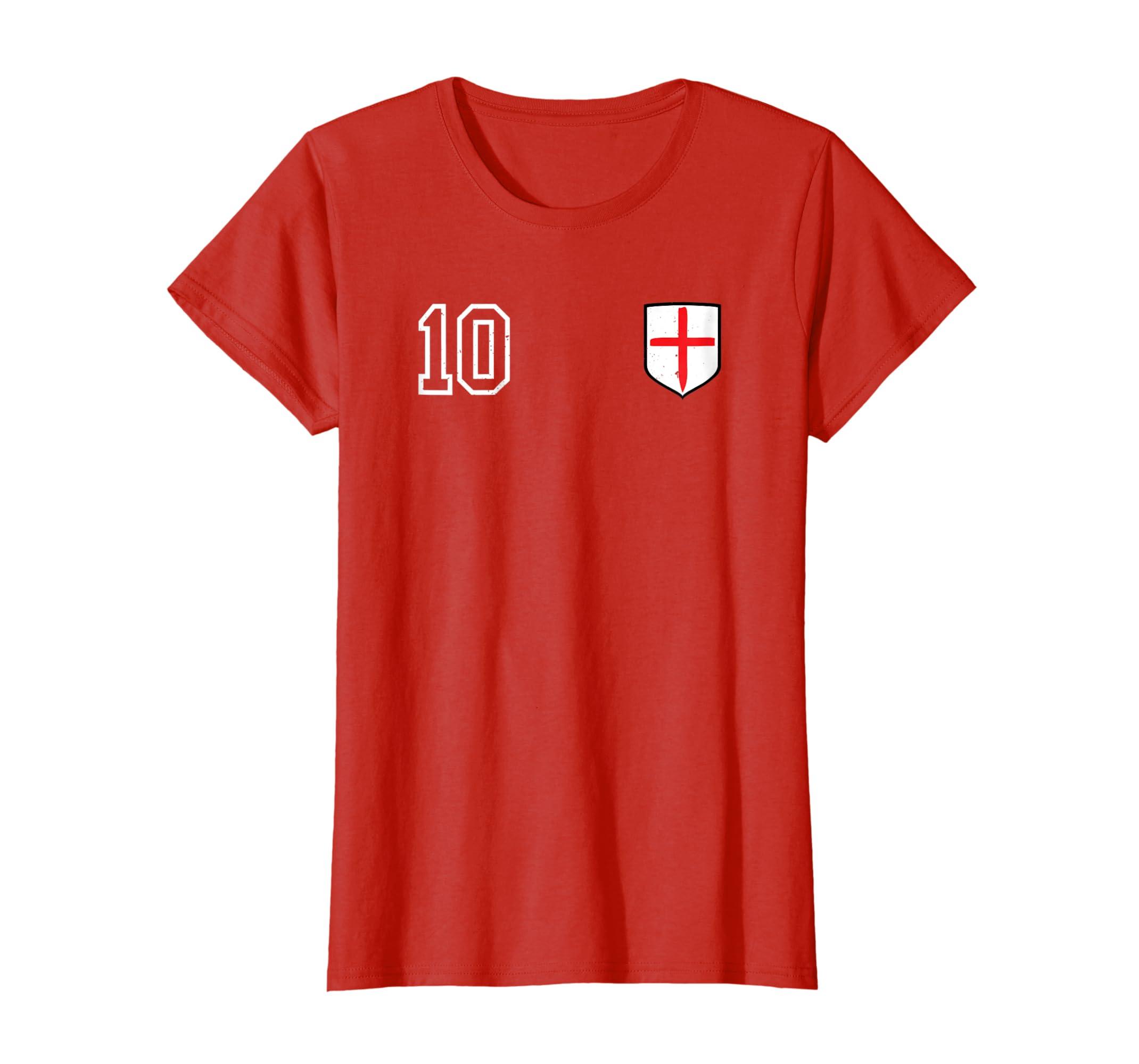 Amazon Retro England Soccer Jersey England Football T Shirt