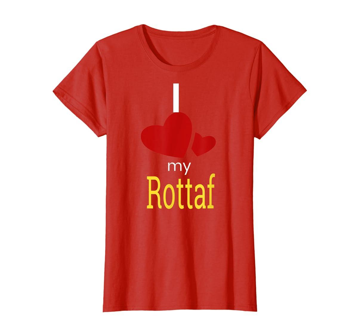 Rottaf Dog Shirt Love Rottweiler + Afghan Hound =  T-Shirt-Women's T-Shirt-Red