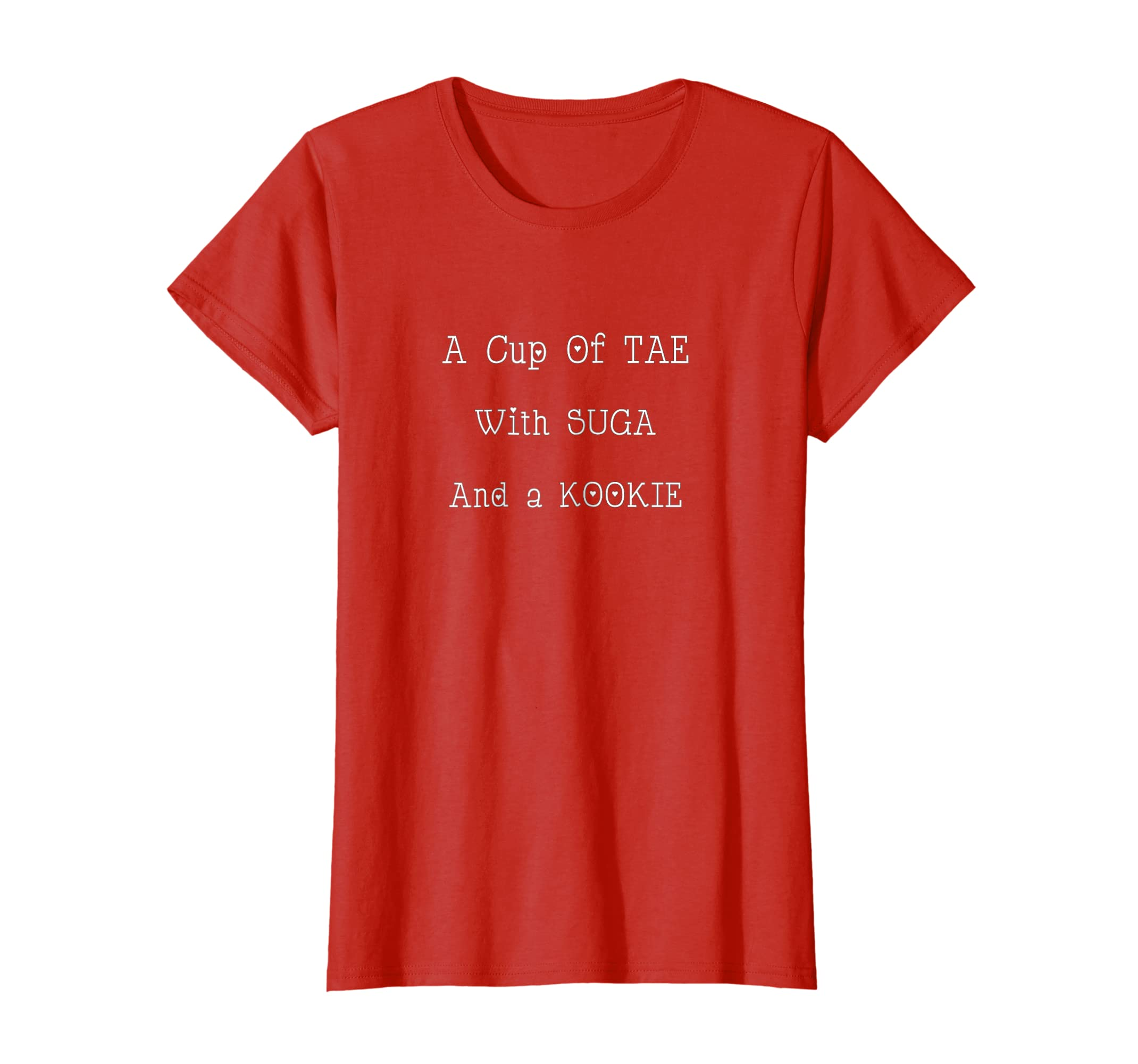 Amazon.com: K PoP - A Cup of Tae with Suga and a Kookie T Shirts: Clothing