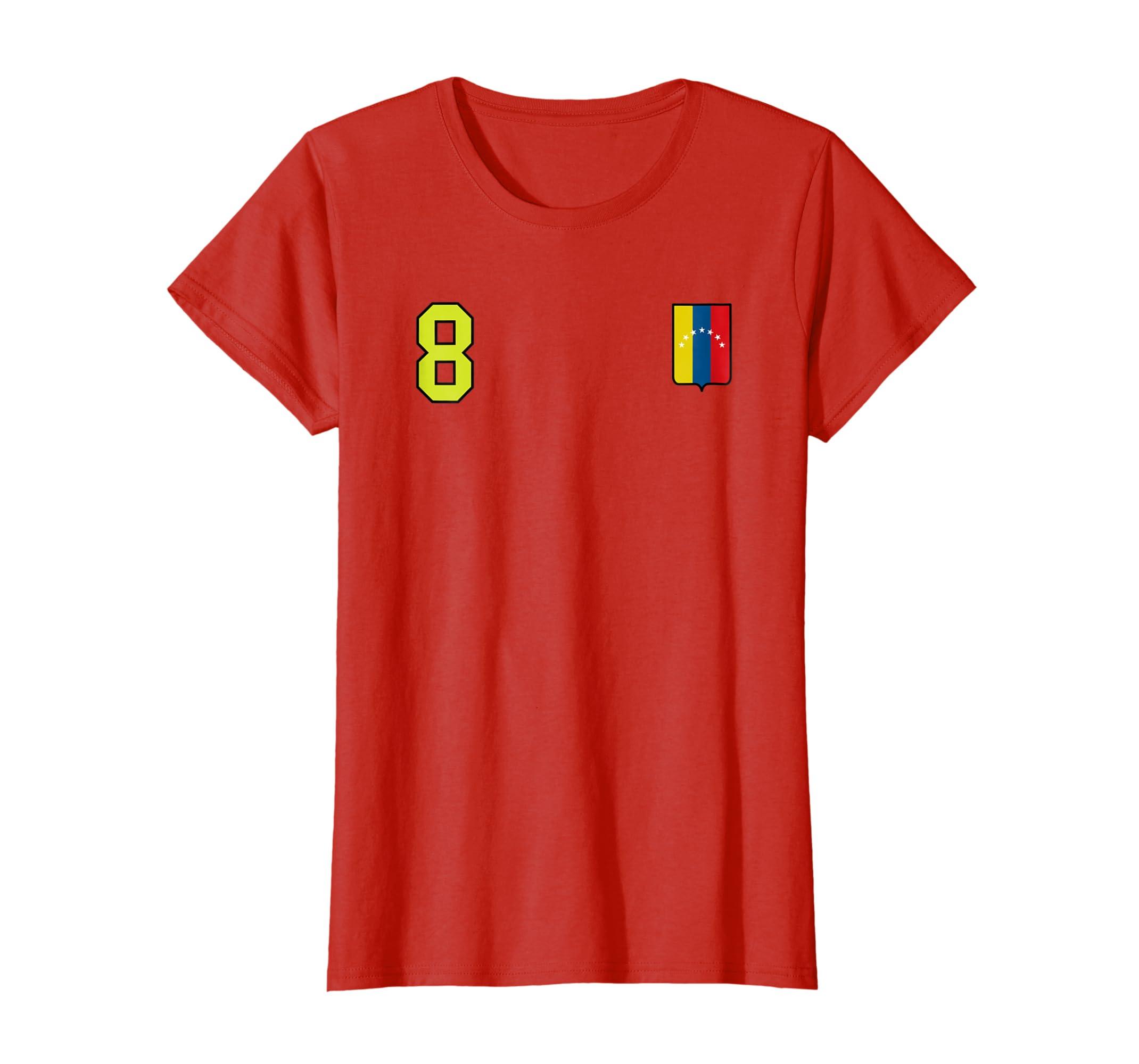 Amazon.com: Venezuela Soccer T-Shirt Camiseta Vinotinto Futbol Retro 8: Clothing