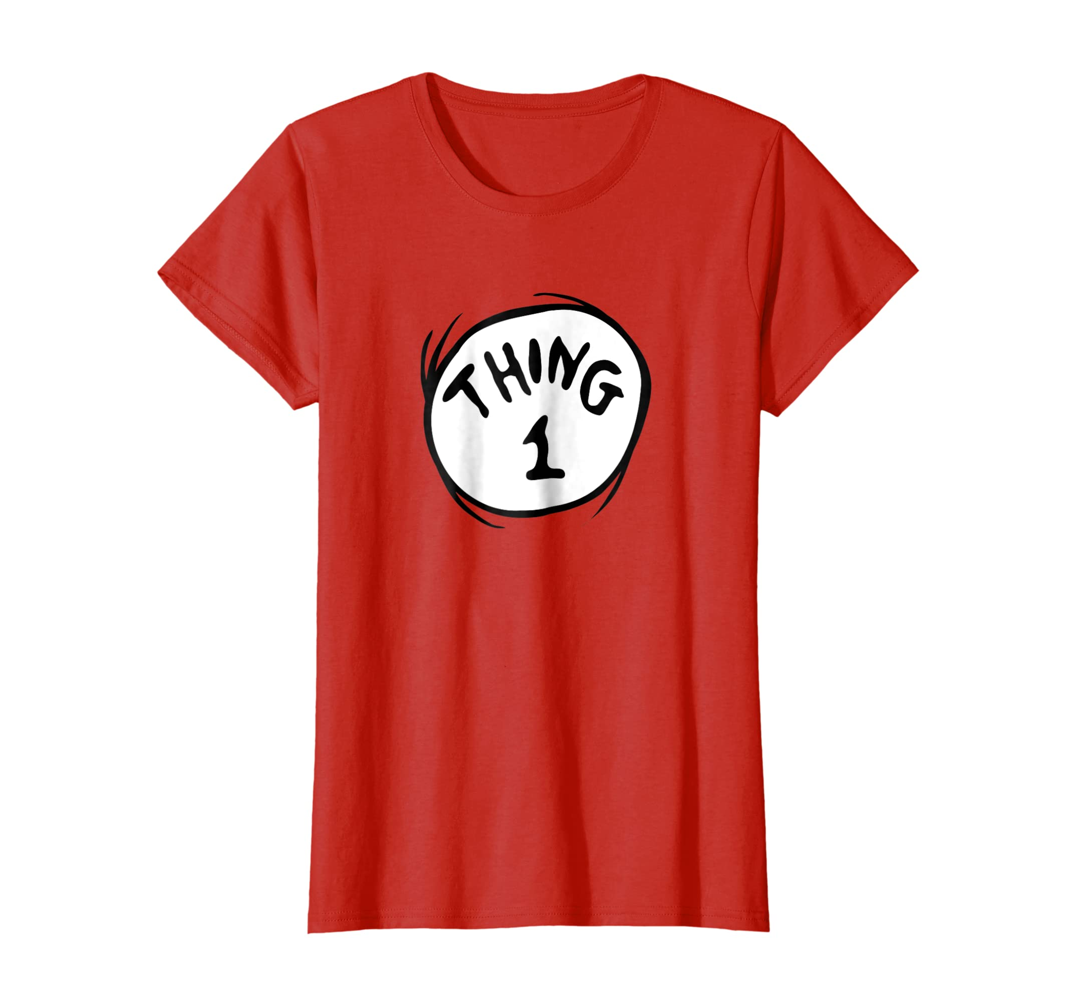 Amazoncom Dr Seuss Thing 1 Emblem Red T Shirt Clothing