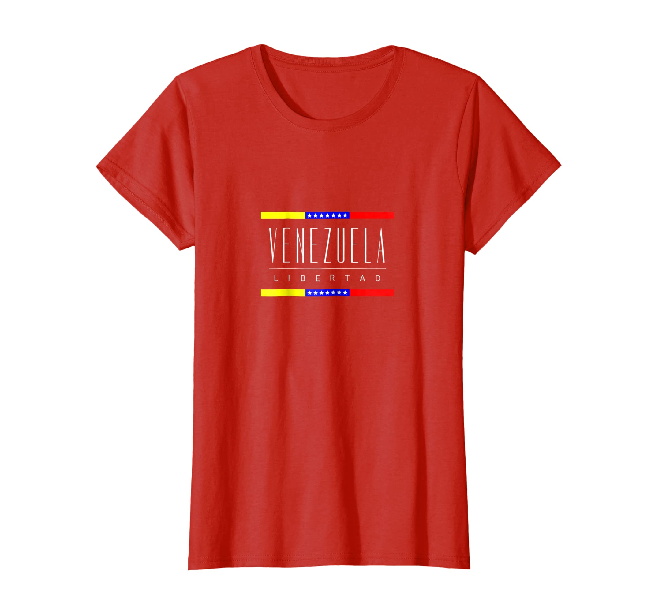 Amazon.com: Venezuela Shirt Libertad Tee Tricolor Star flag ...