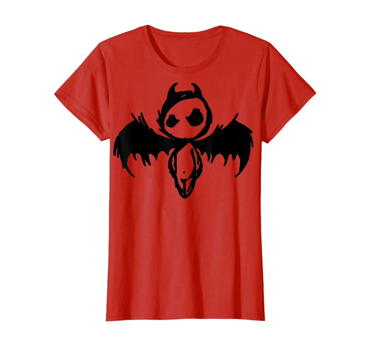 Cute Demon Vintage Couple Matching Halloween Party Costume T-Shirt-Women's T-Shirt-Red