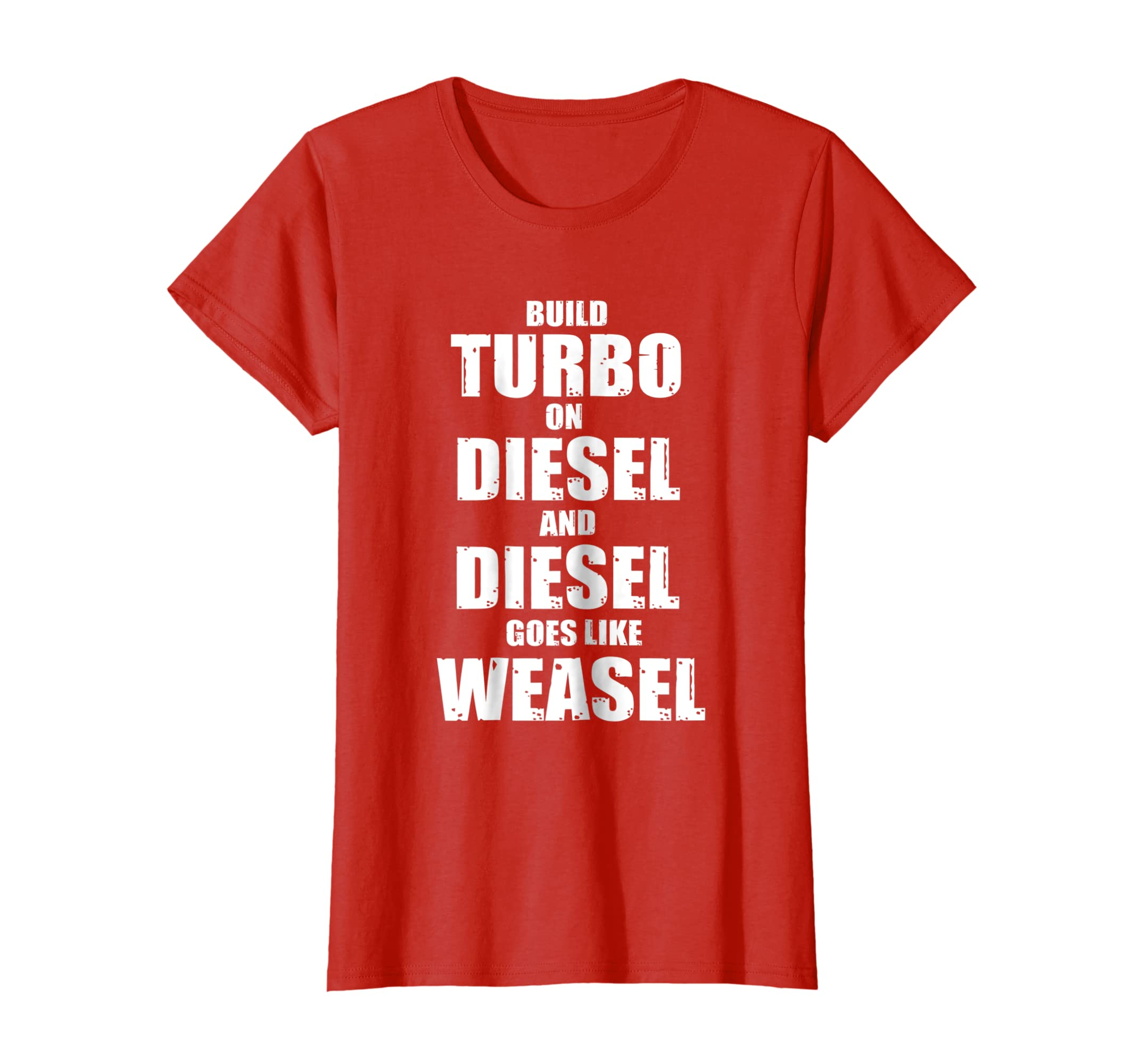 Amazon.com: Turbo Diesel Weasel - funny car shirt rhyme, diesel lovers: Clothing