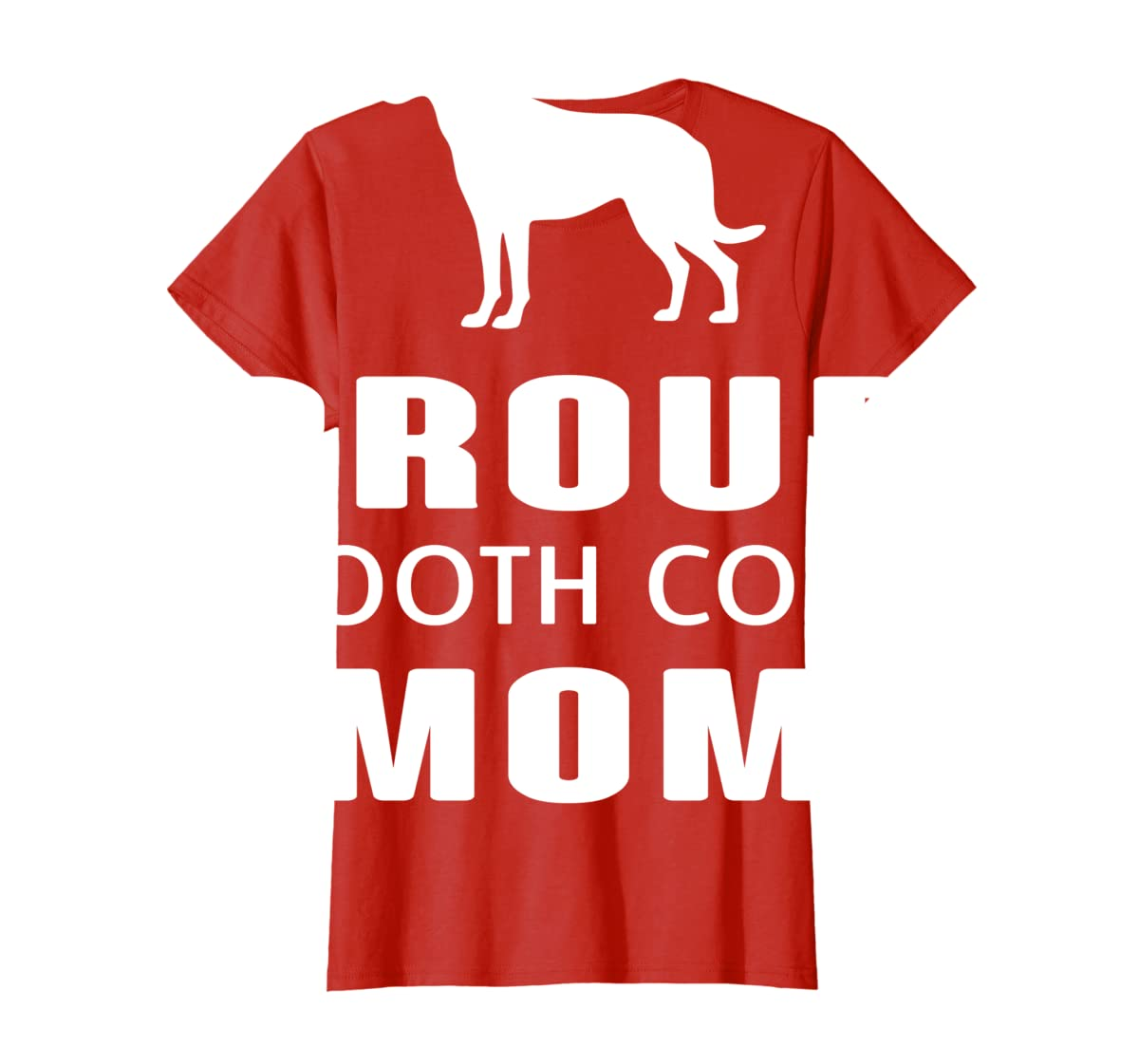 Smooth Collie Funny T-Shirts For Dog Lovers-Women's T-Shirt-Red