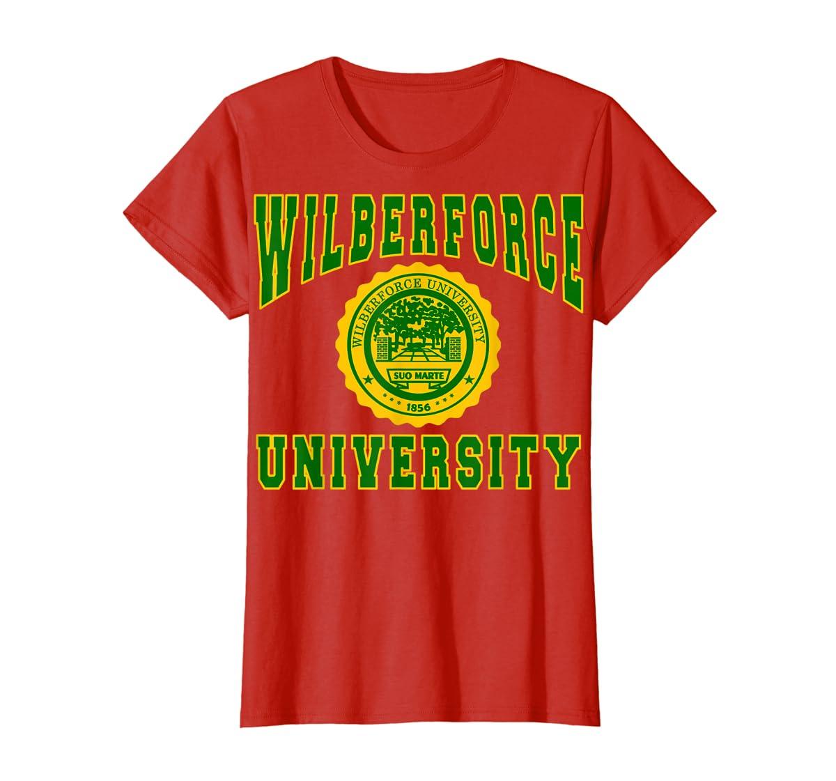 Wilberforce 1856 University Apparel - T shirt-Women's T-Shirt-Red