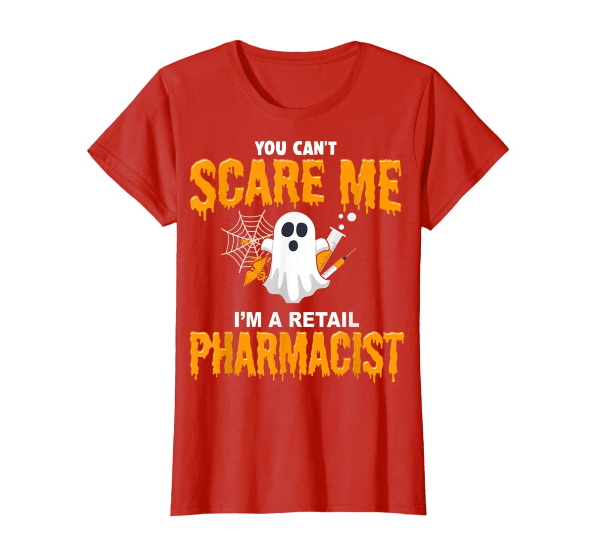 Halloween Costume Shirt I'm A Retail Pharmacist  T-Shirt-Women's T-Shirt-Red