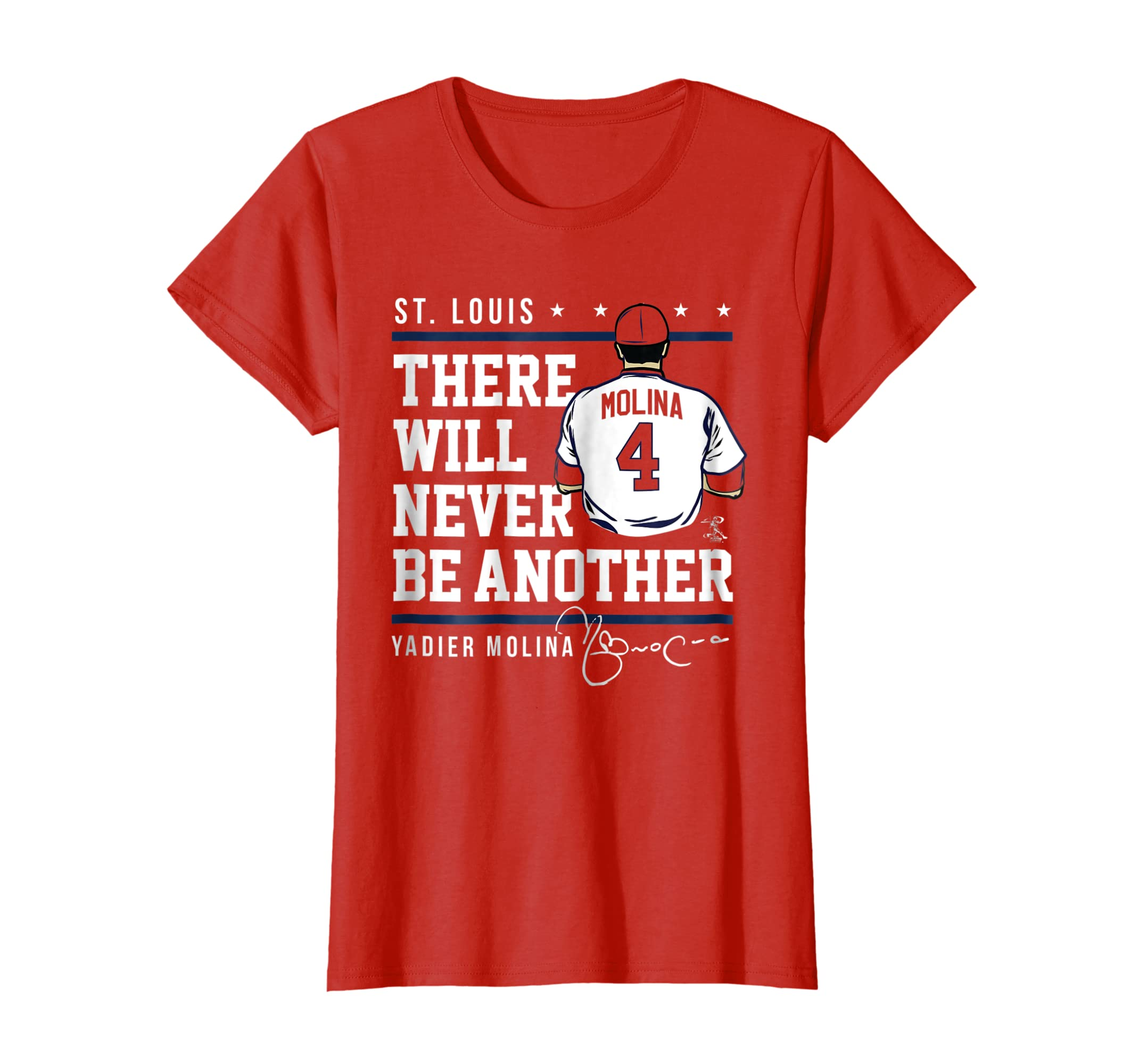 promo code 673bd d2bf5 Amazon.com: Yadier Molina Never Be Another T-Shirt - Apparel ...