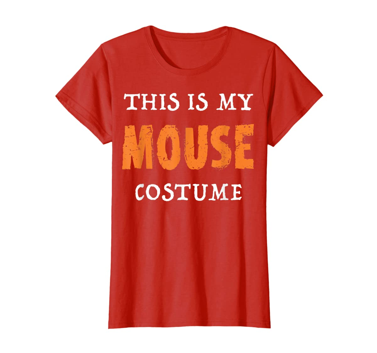 Funny This Is My Mouse Costume Halloween  T-Shirt-Women's T-Shirt-Red