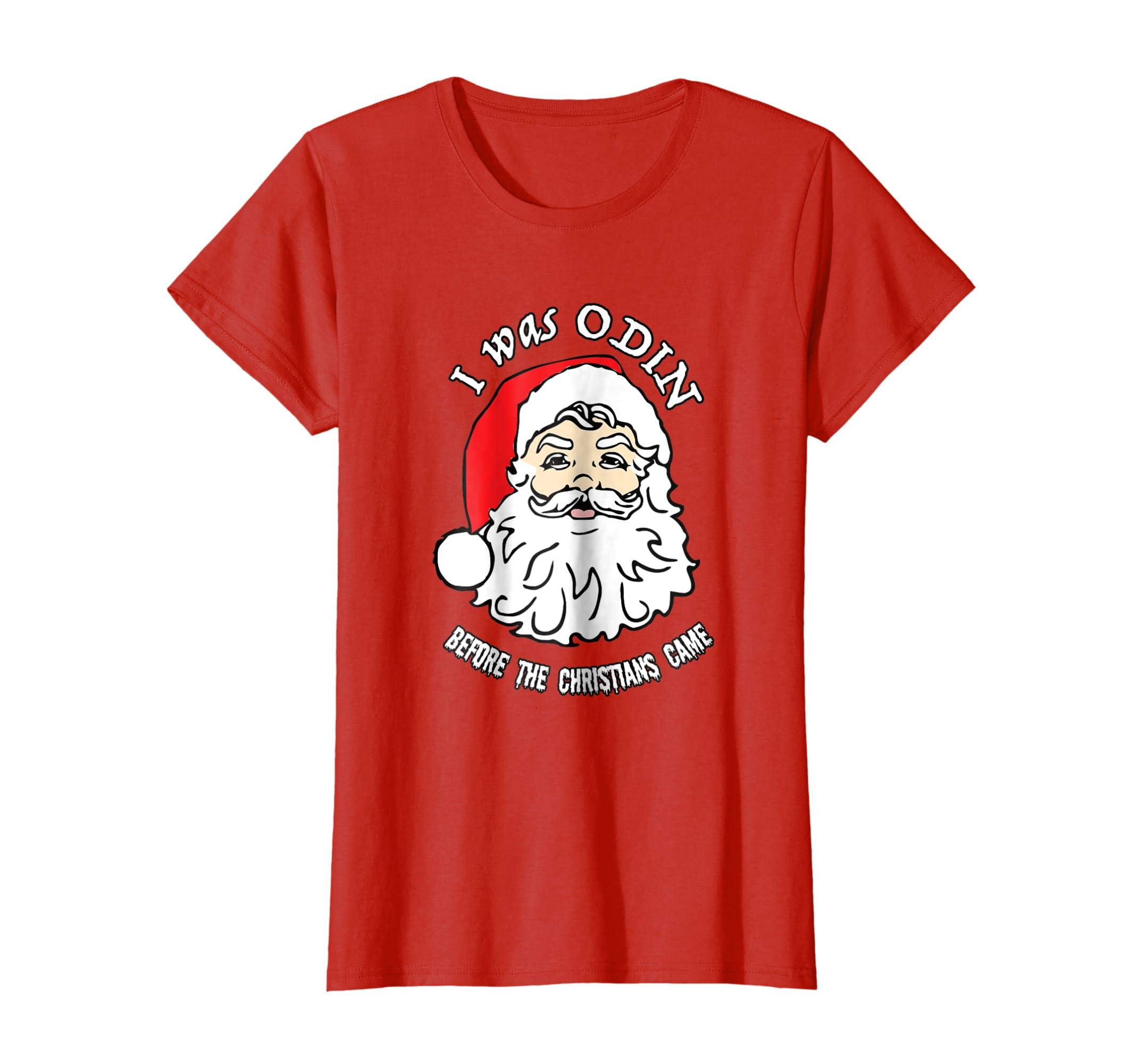 Amazon.com: I Was ODIN Santa Shirt Norse Viking Santa Pagan Yule ...