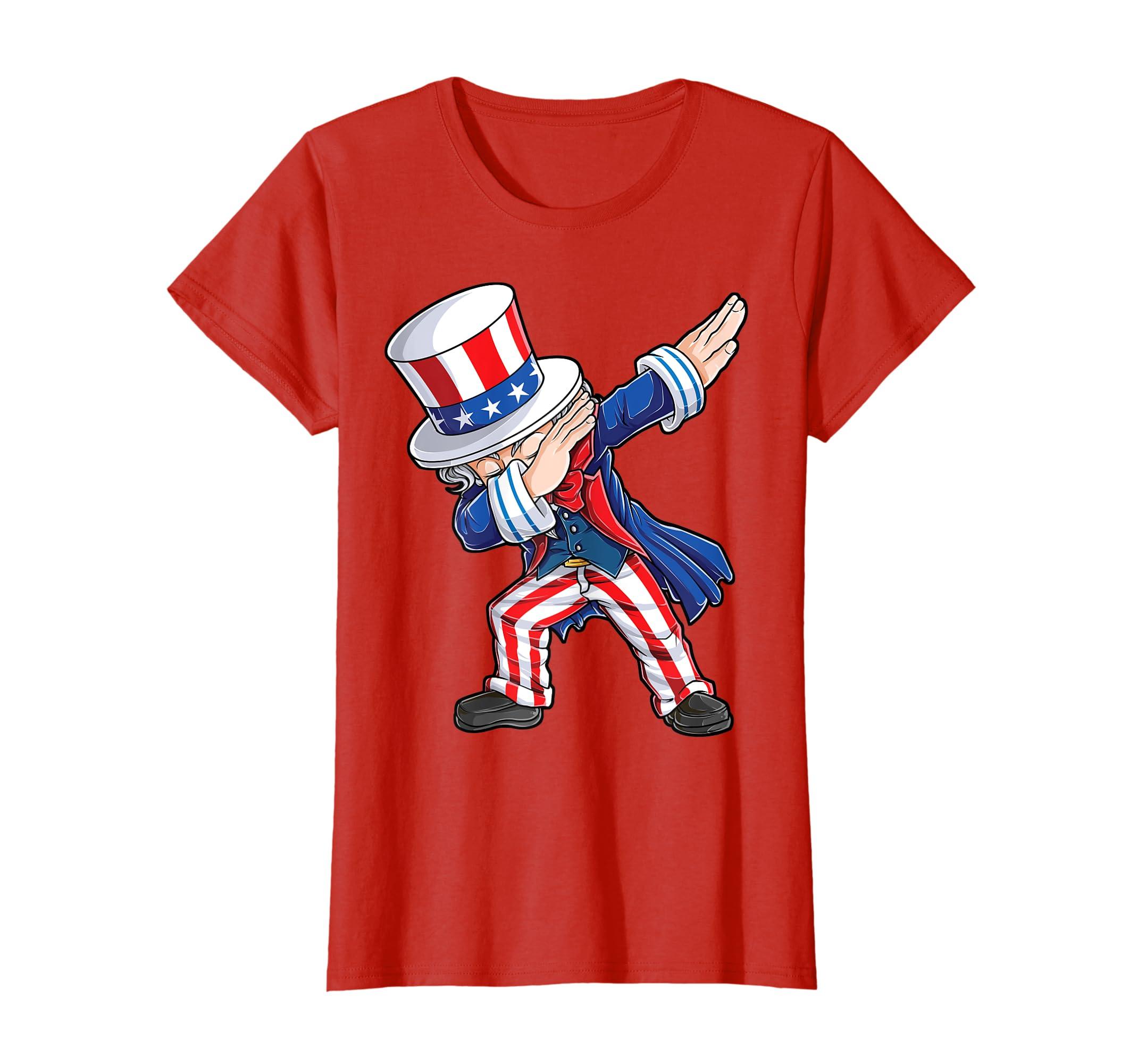 1ea6e2af Amazon.com: Dabbing Uncle Sam T Shirt 4th of July Kids Boys Men Gifts:  Clothing