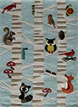 Momeni Rugs Lil Mo Whimsy Collection Area Rug, 3' x 5', Light Blue