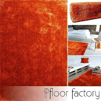 Schwarz 120x170cm Teppich Wohnzimmer Moderner Hochflorteppich Rot