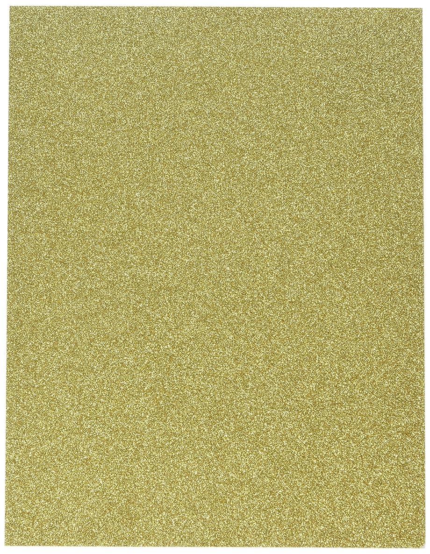Darice 2511-57 Adhesive Glitter Paper, 8.5x11, Gold