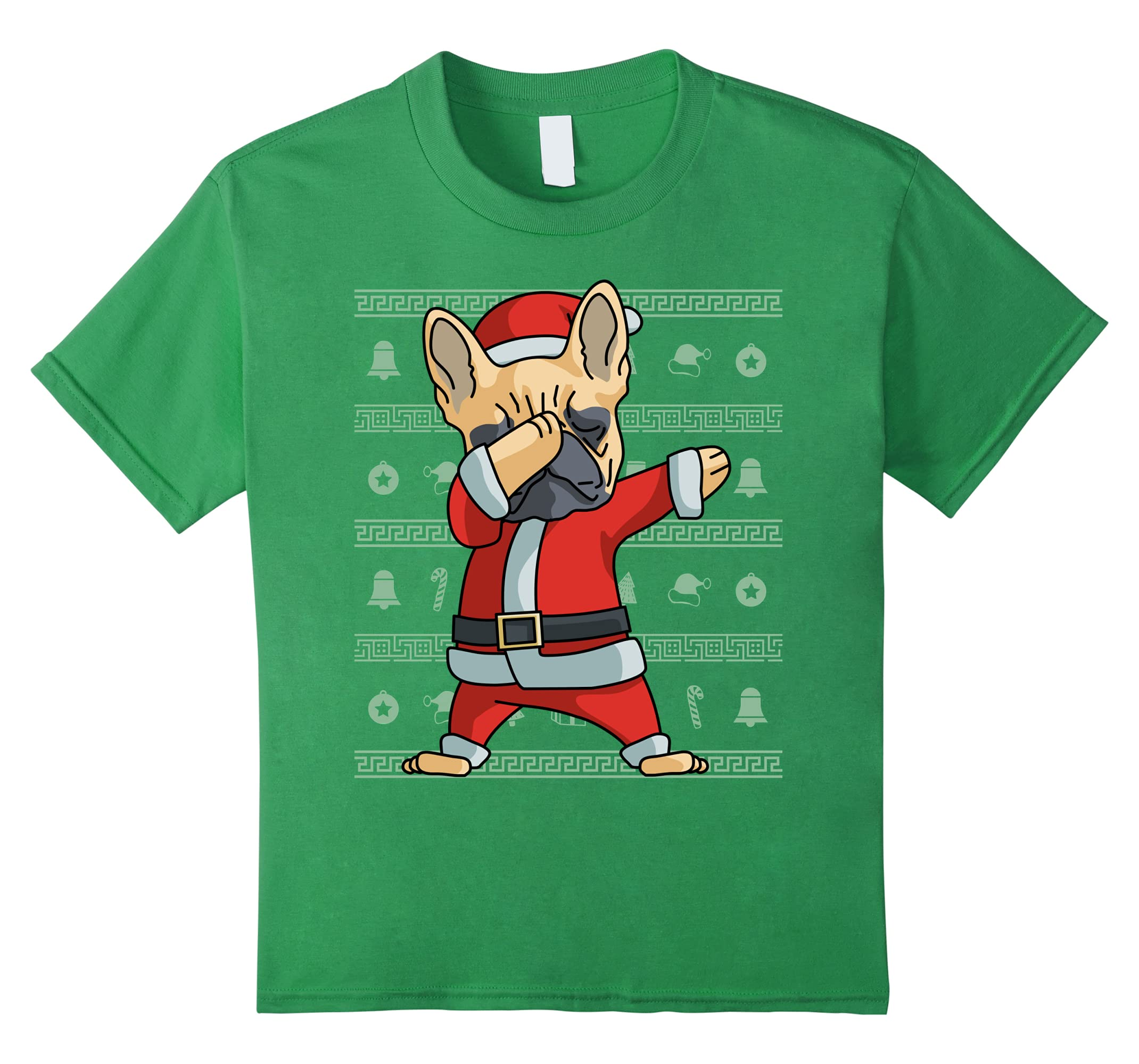 Dabbing French Bulldog T Shirt Christmas-Tovacu