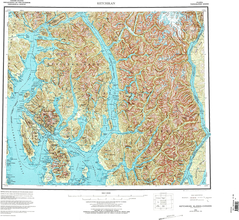YellowMaps Ketchikan AK topo map 1:250000 X At the price 1 Ranking TOP15 Scale Degree 2