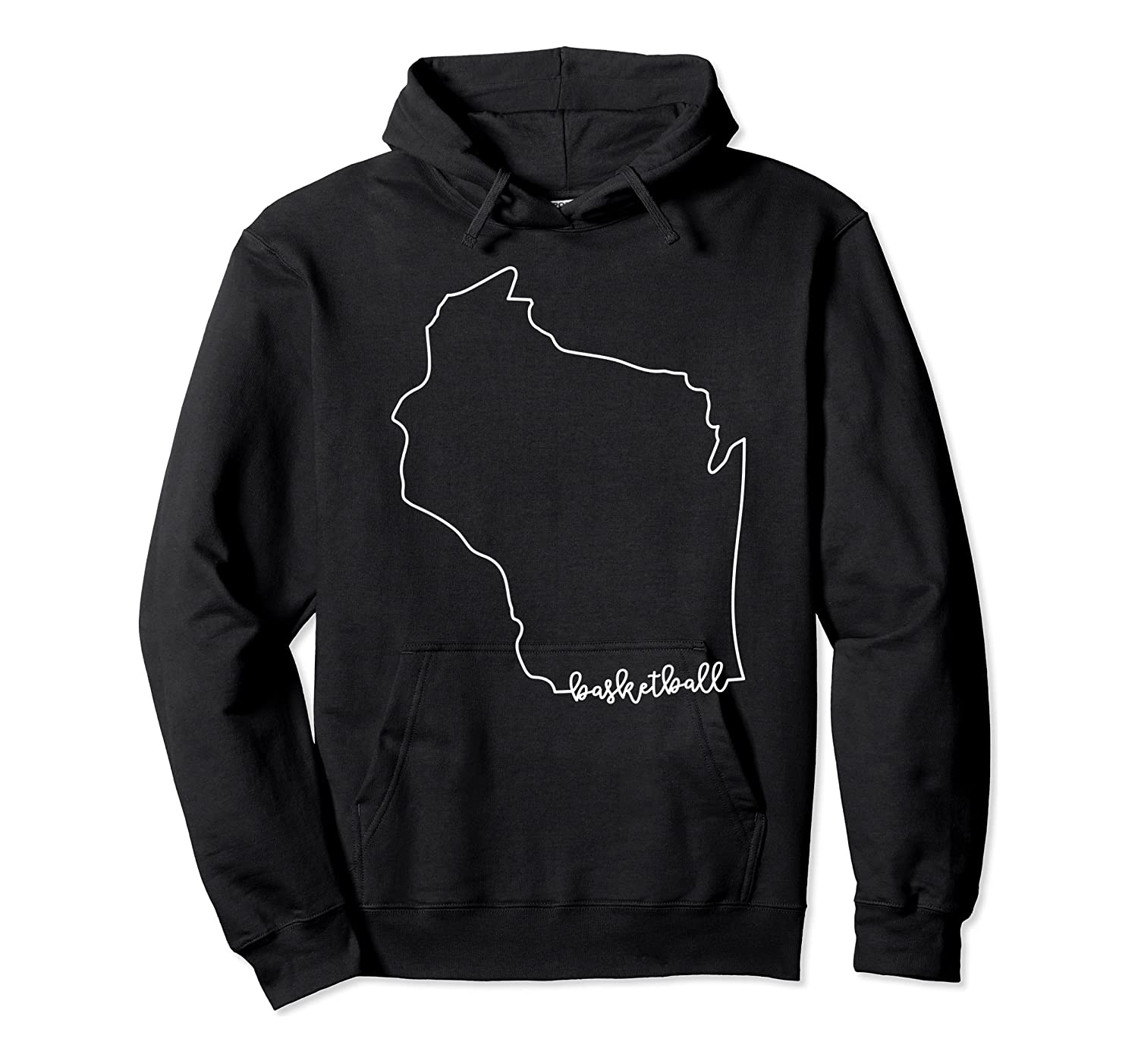 State Of Wisconsin Outline With Basketball Script Acj299b T-shirt Unisex Pullover Hoodie