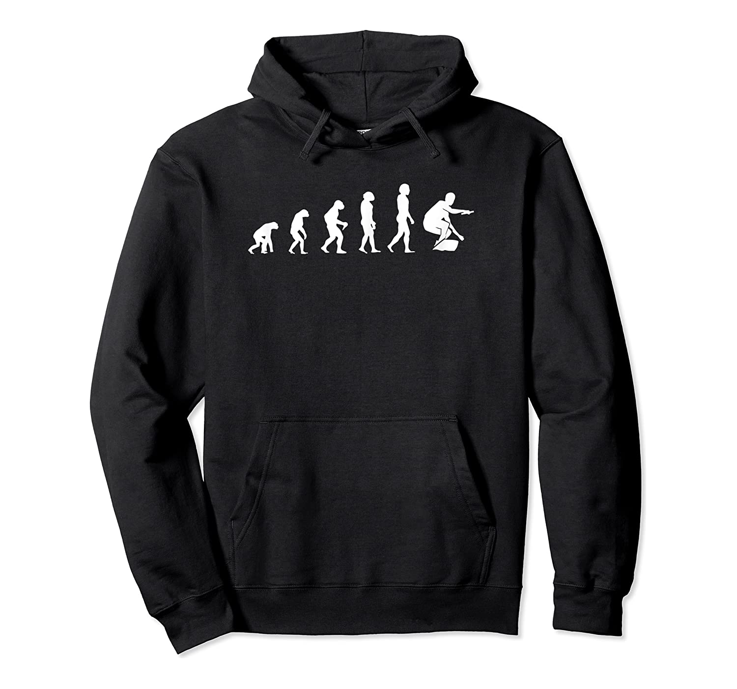 Evolution Of Wakeboarding Shirts Unisex Pullover Hoodie