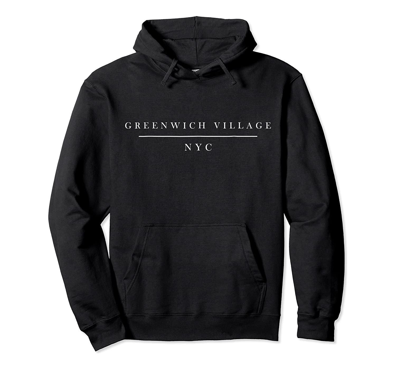 Minimalistic Greenwich Village Nyc Tshirt Unisex Pullover Hoodie