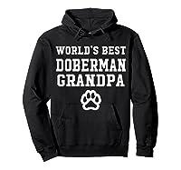 World\\\'s Best Doberman Grandpa Dog Lover Pawprint T-shirt Hoodie Black