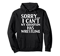 Grandpa Grandma My Grandson Has Wrestling Shirts Hoodie Black
