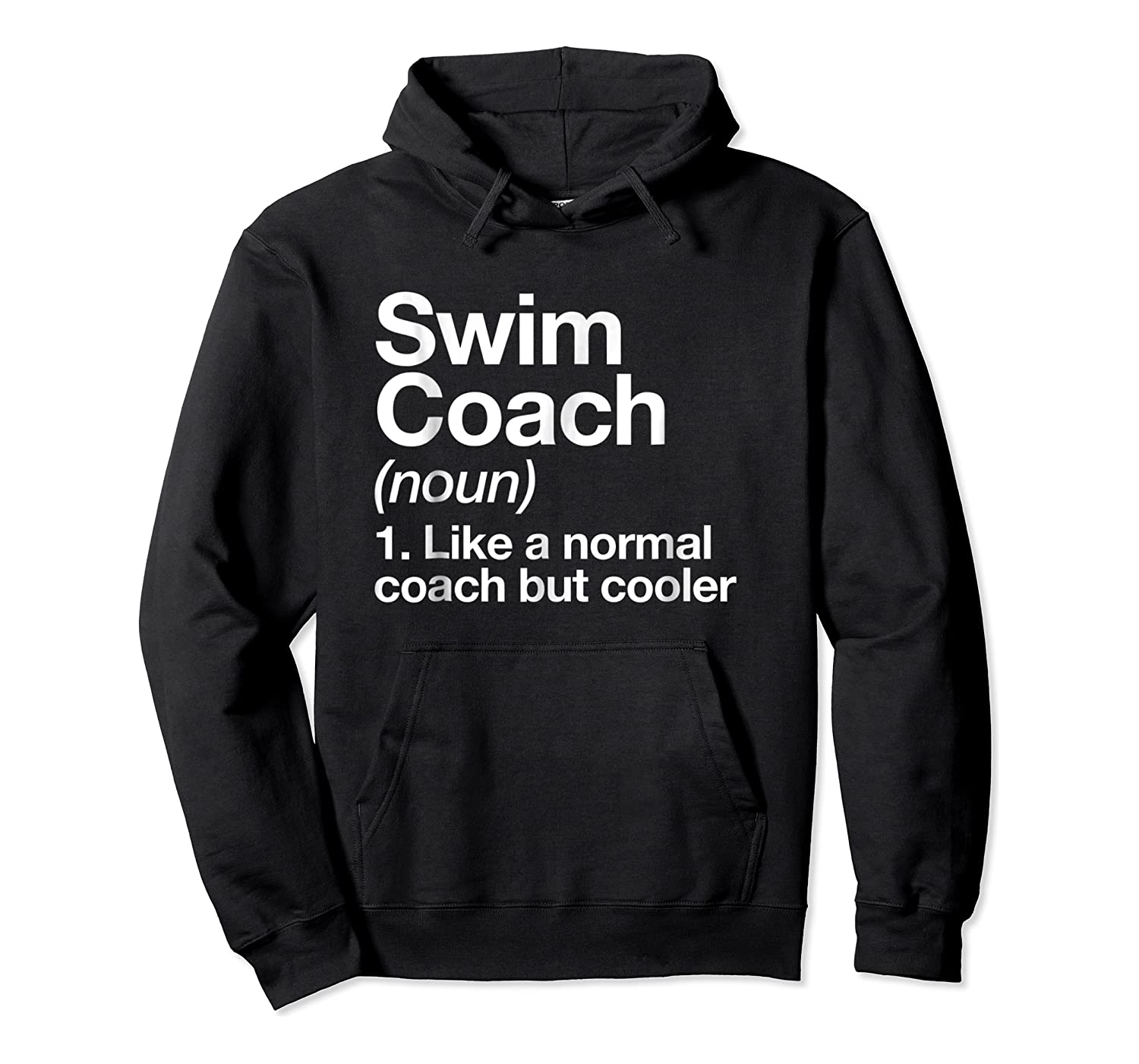 Swim Coach Funny Definition Trainer Gift Shirts Unisex Pullover Hoodie