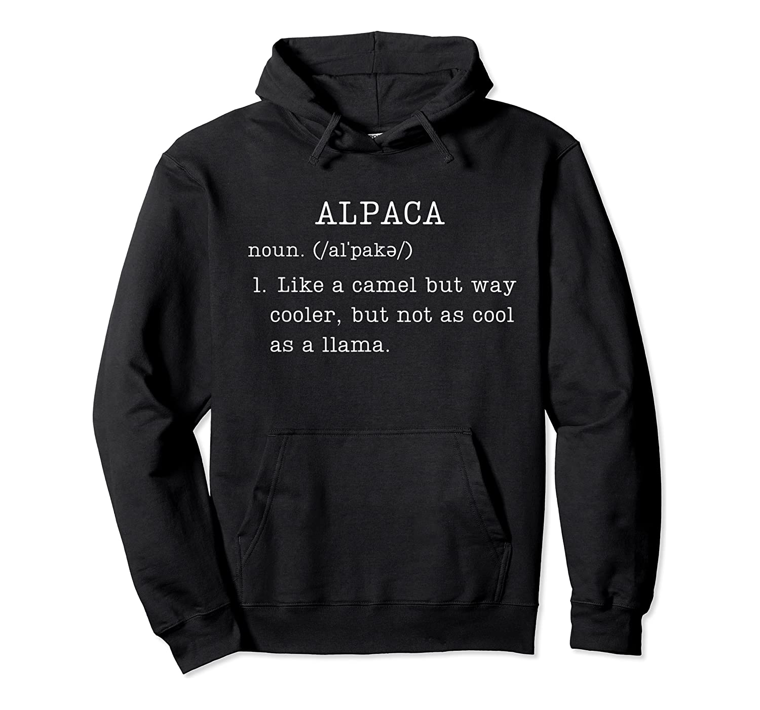 Funny Alpaca Gifts Dictionary Definition Humor Animal Lovers T-shirt Unisex Pullover Hoodie
