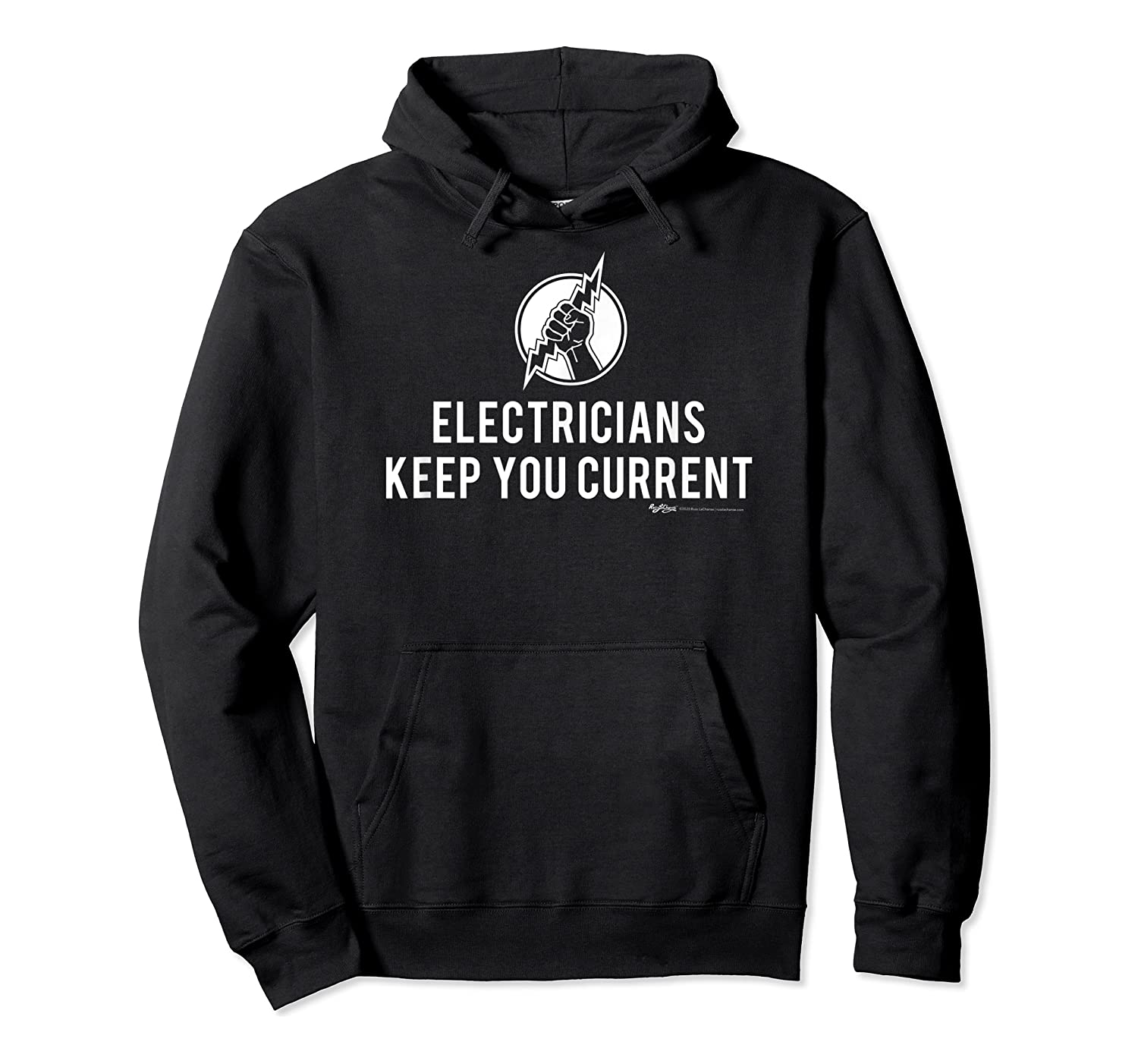 Electricians Keep Your Current Electrician Word T-shirt Unisex Pullover Hoodie