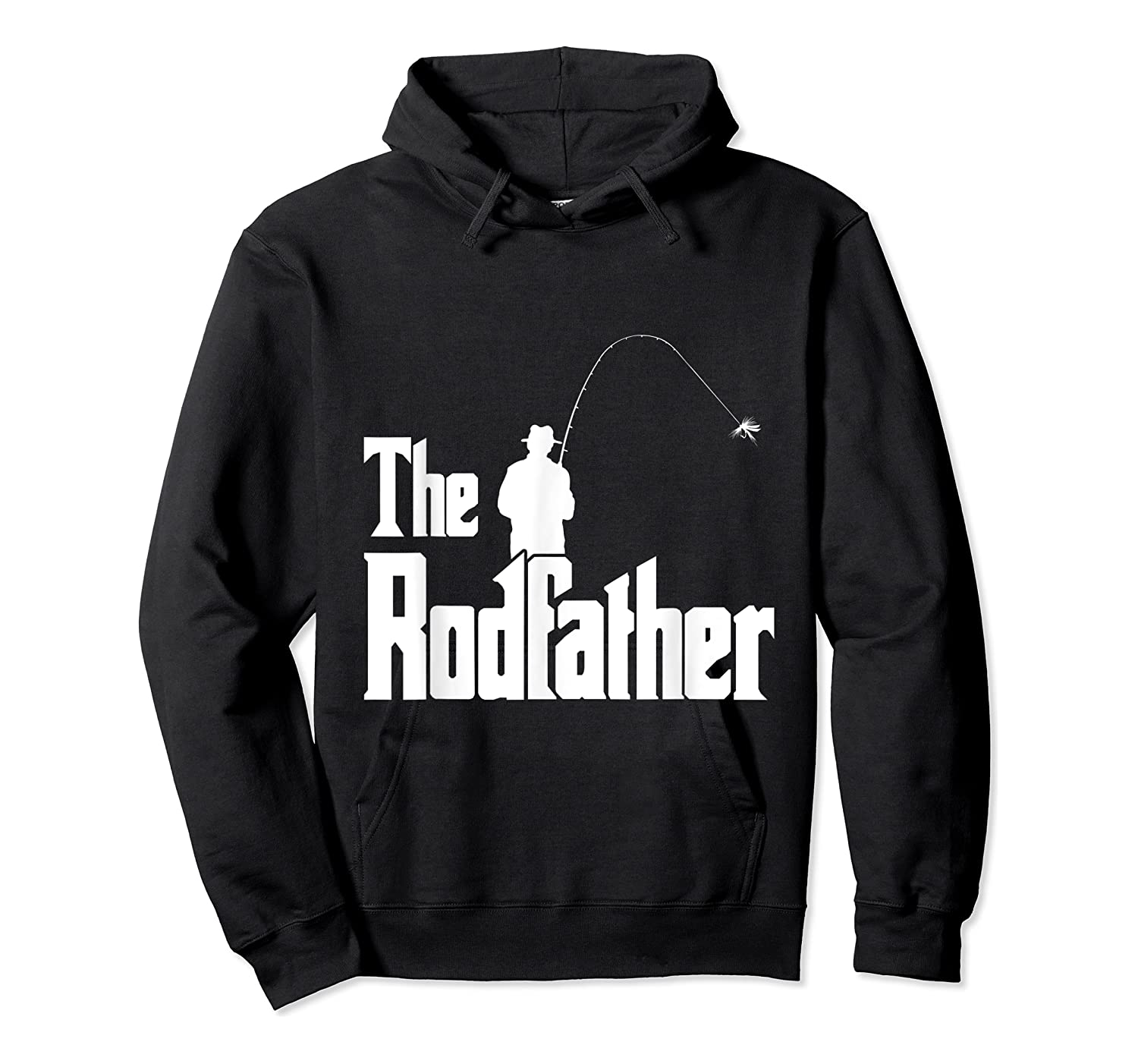 S The Rodfather Funny Fisherman T Shirt Sea, Fly Fishing Tee Unisex Pullover Hoodie