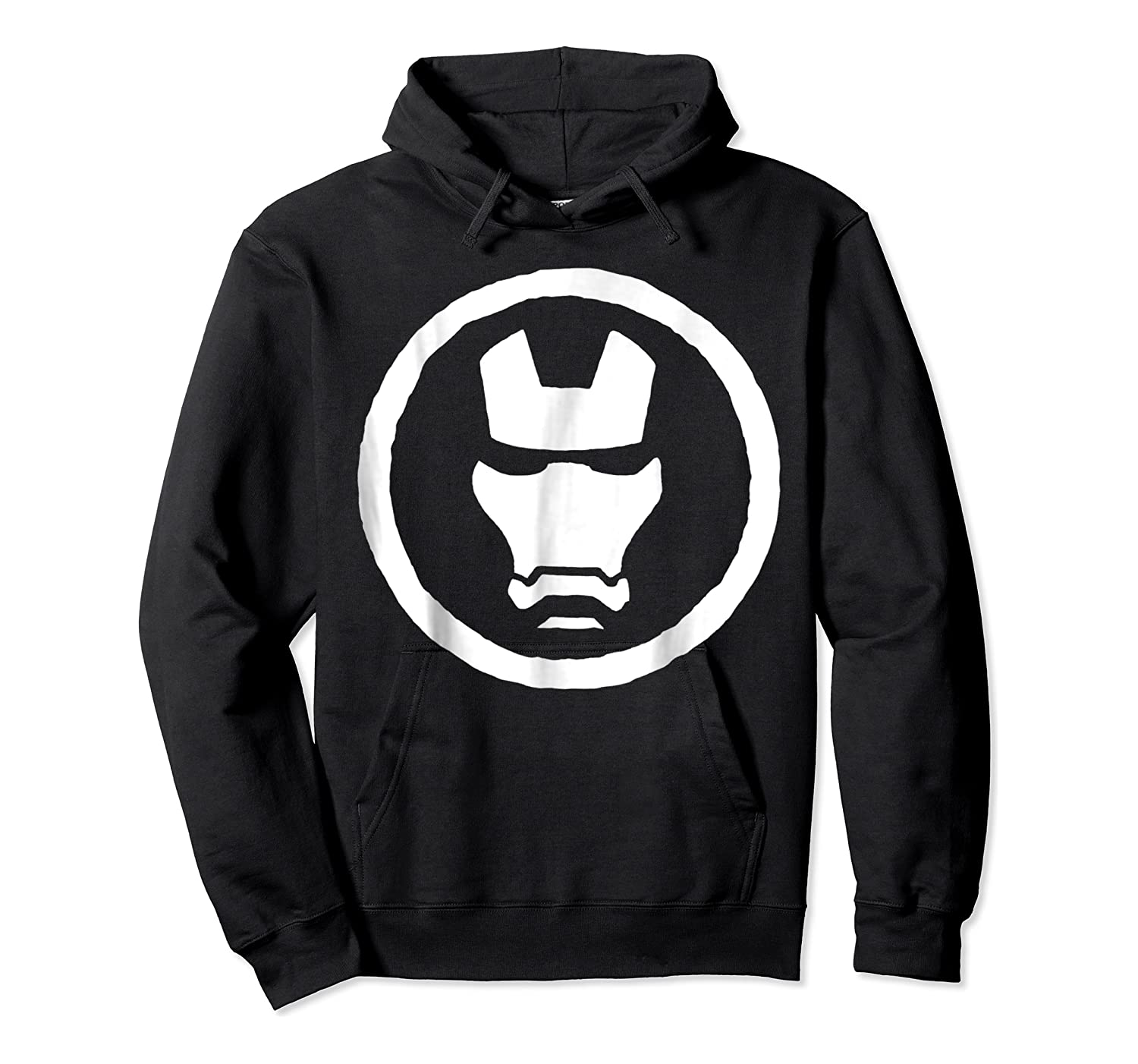 Marvel Iron Man Mask Icon Graphic T-shirt Unisex Pullover Hoodie