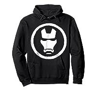 Marvel Iron Man Mask Icon Graphic T-shirt Hoodie Black