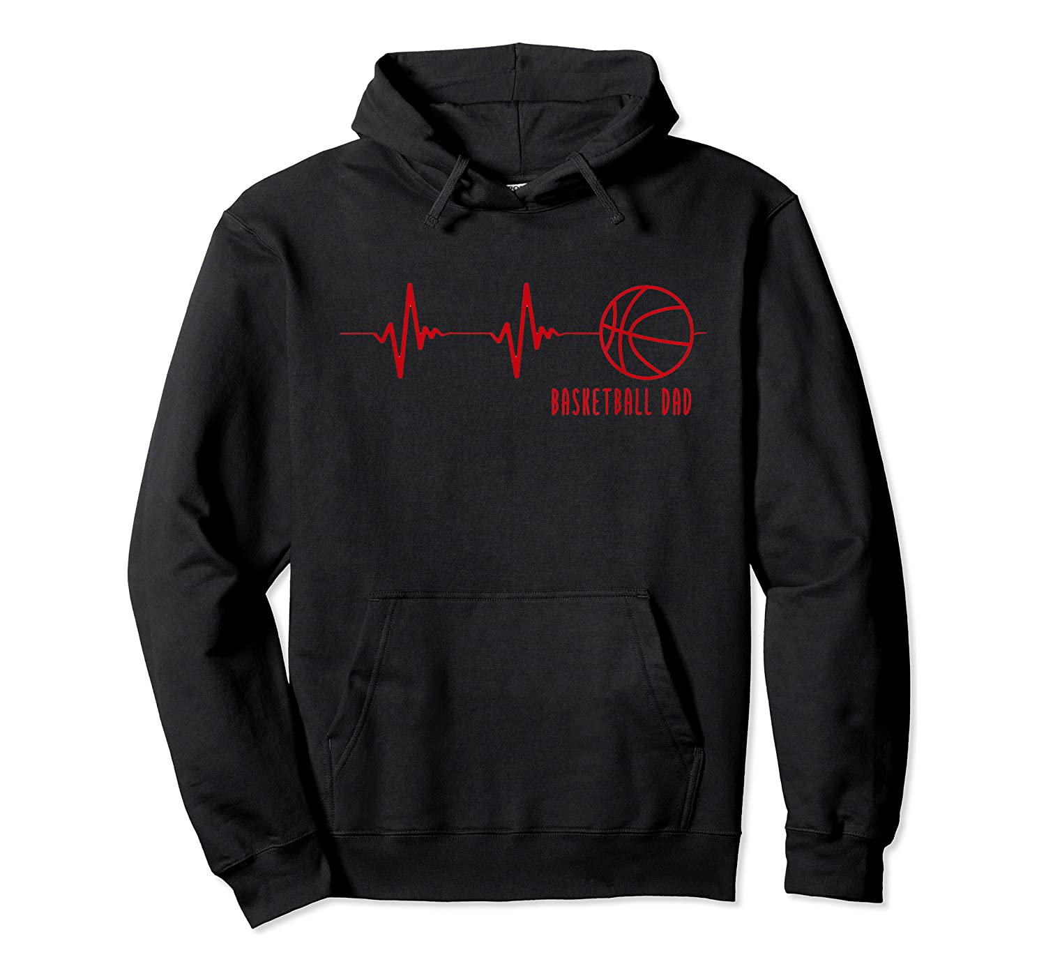 Basketball Dad Heartbeat T-shirt Unisex Pullover Hoodie
