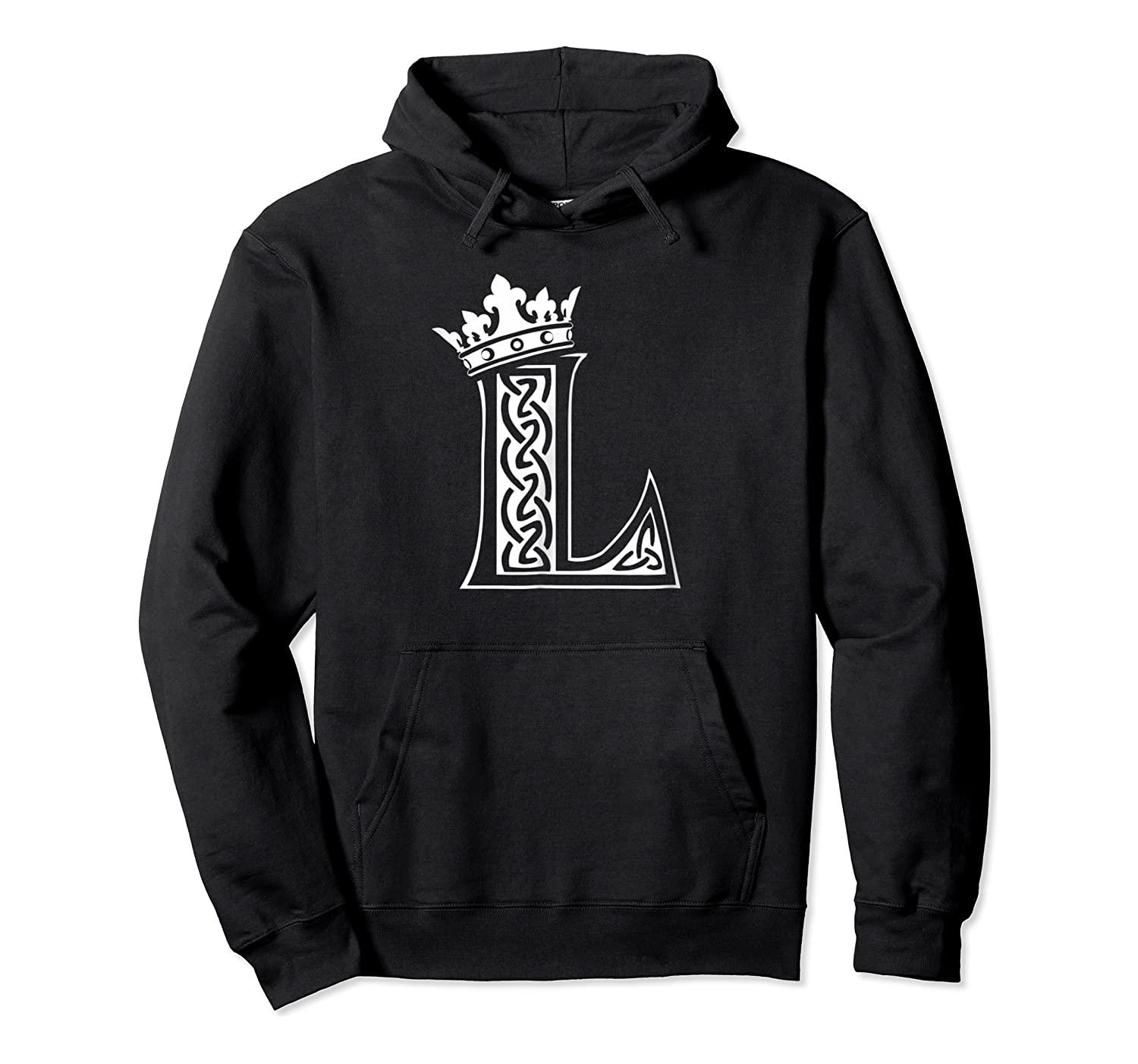 Alphabet Initial Letter L And King Queen Crown Shirts Unisex Pullover Hoodie