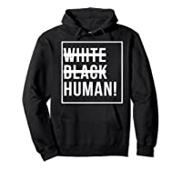 Black Human Shirts Hoodie Black