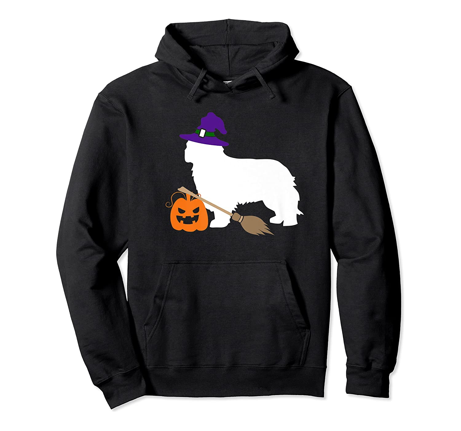 Cavalier King Charles Witch Hat Halloween Dog Costume Shirts Unisex Pullover Hoodie