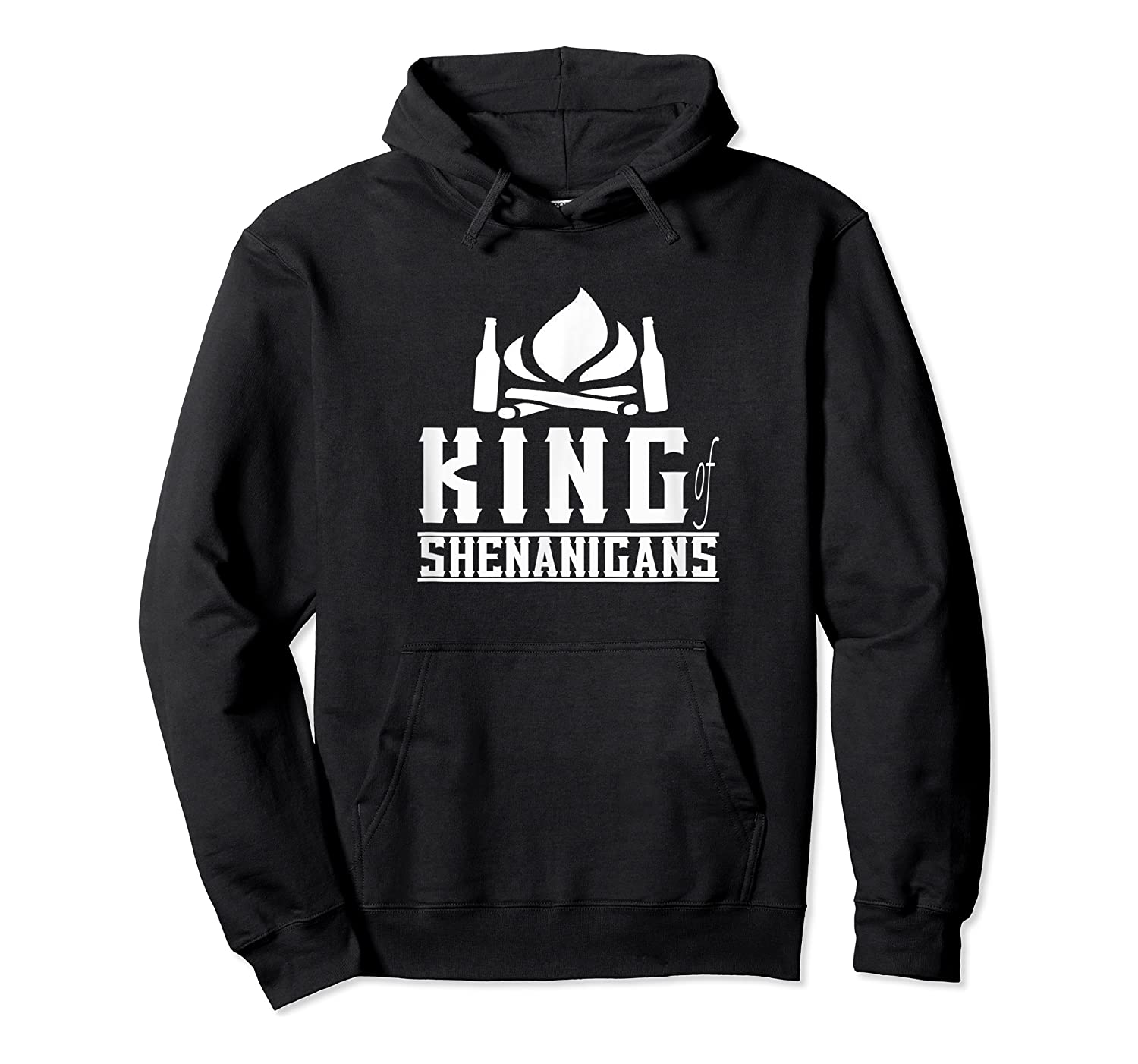 King Of Shenanigans Funny Bachelor Party Animal Drink Fun Shirts Unisex Pullover Hoodie