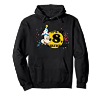 Mickey Mouse 8th Birthday Shirts Hoodie Black