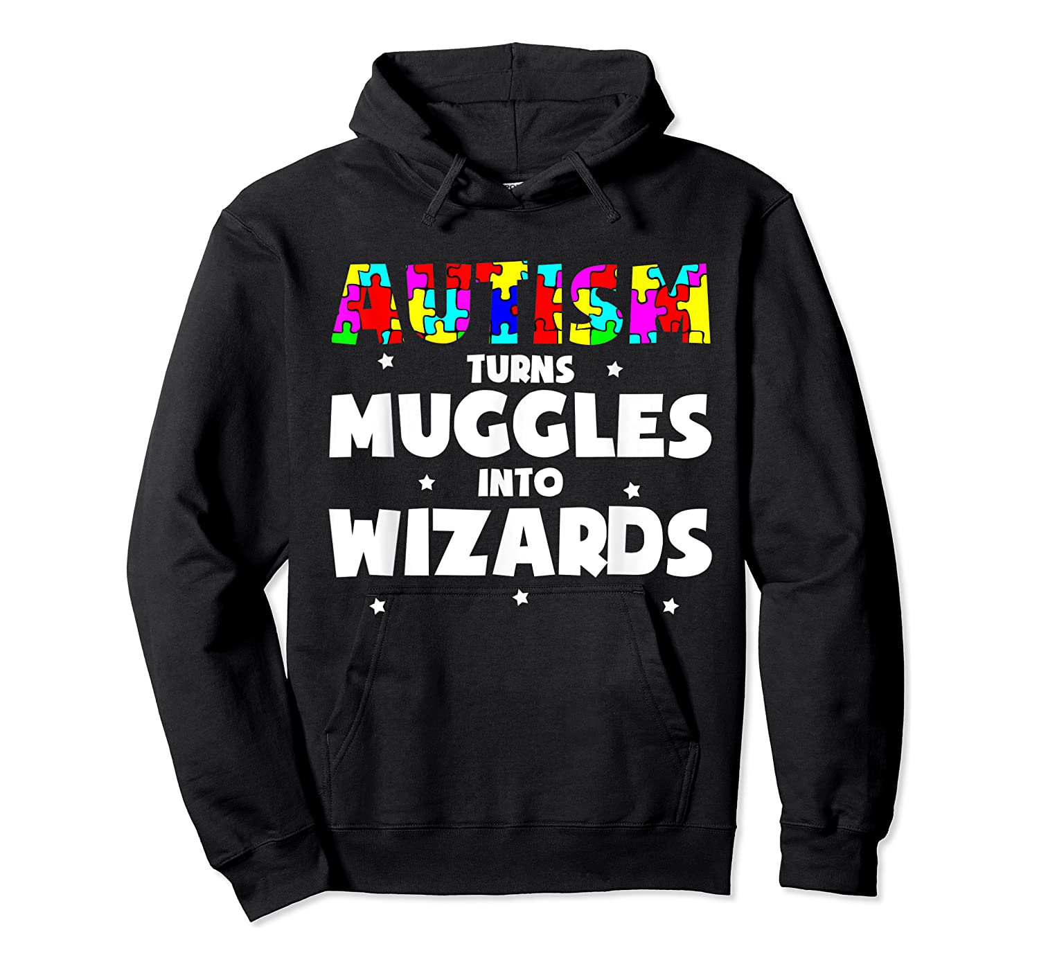 Autism Turns Muggles In To Wizards Autism Awareness Puzzle Shirts Unisex Pullover Hoodie
