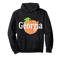 Georgia Peach State Pride Southern Roots T Shirt Hoodie Black